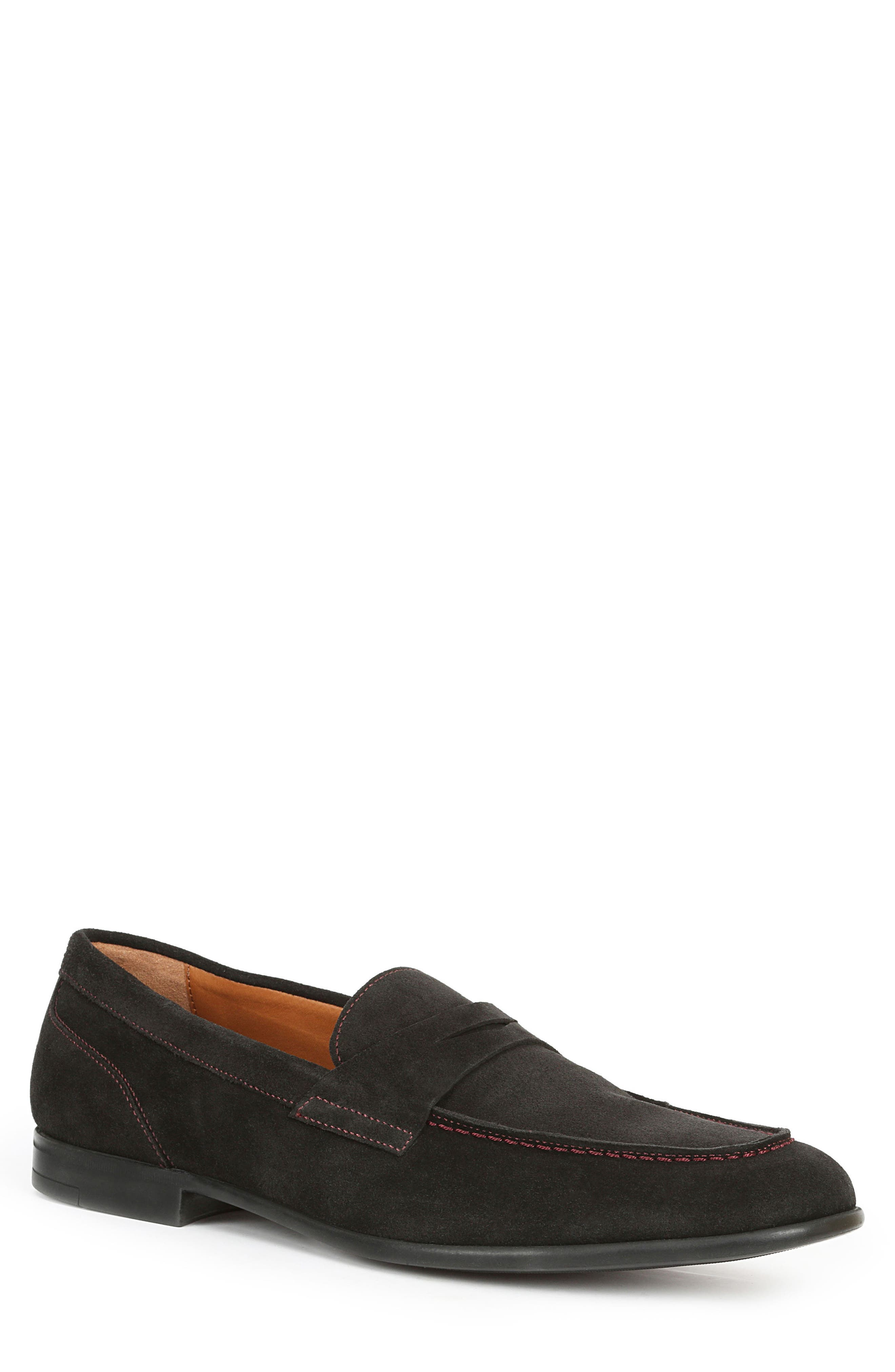 Silas Penny Loafer,                         Main,                         color, BLACK