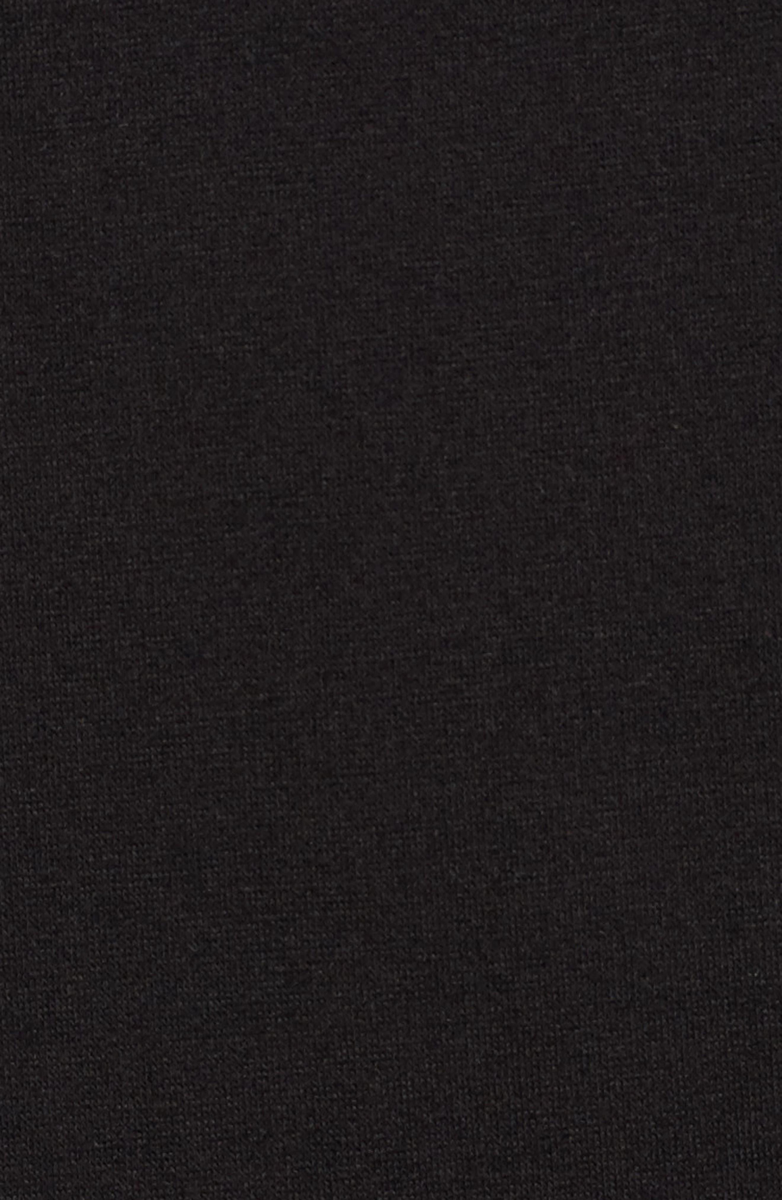 Ruffle Sleeve T-Shirt Dress,                             Alternate thumbnail 5, color,                             BLACK