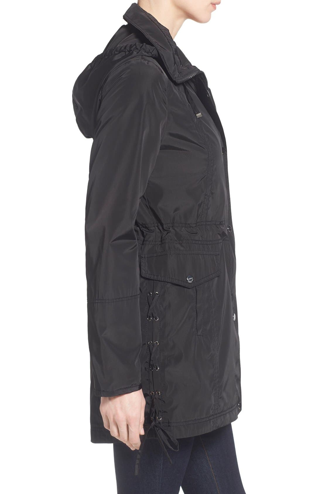 Windbreaker with Lace-Up Sides,                             Alternate thumbnail 4, color,                             001