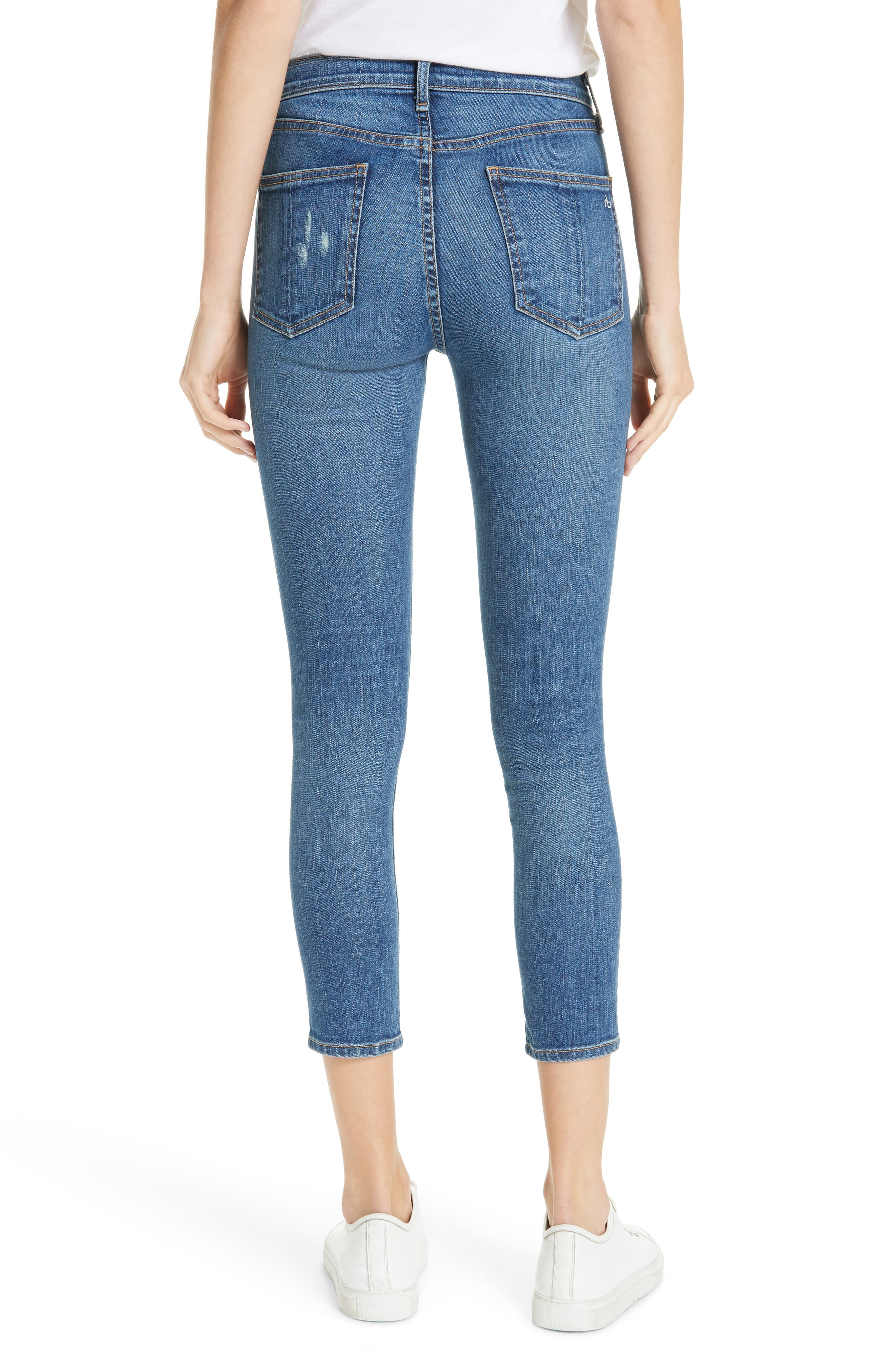 High Waist Ankle Skinny Jeans,                             Alternate thumbnail 2, color,                             EL