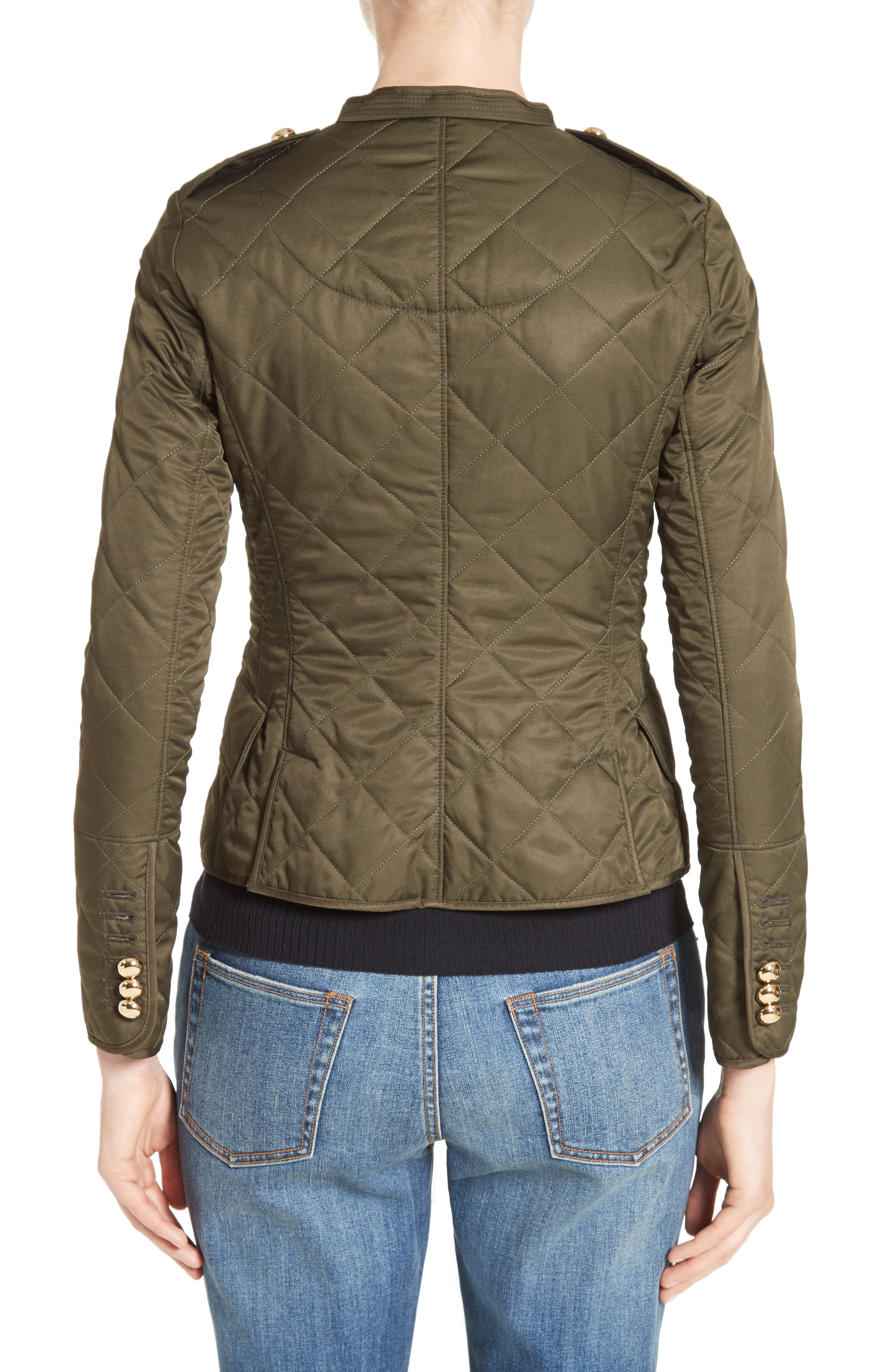 Boscastle Quilted Military Jacket,                             Alternate thumbnail 2, color,                             301