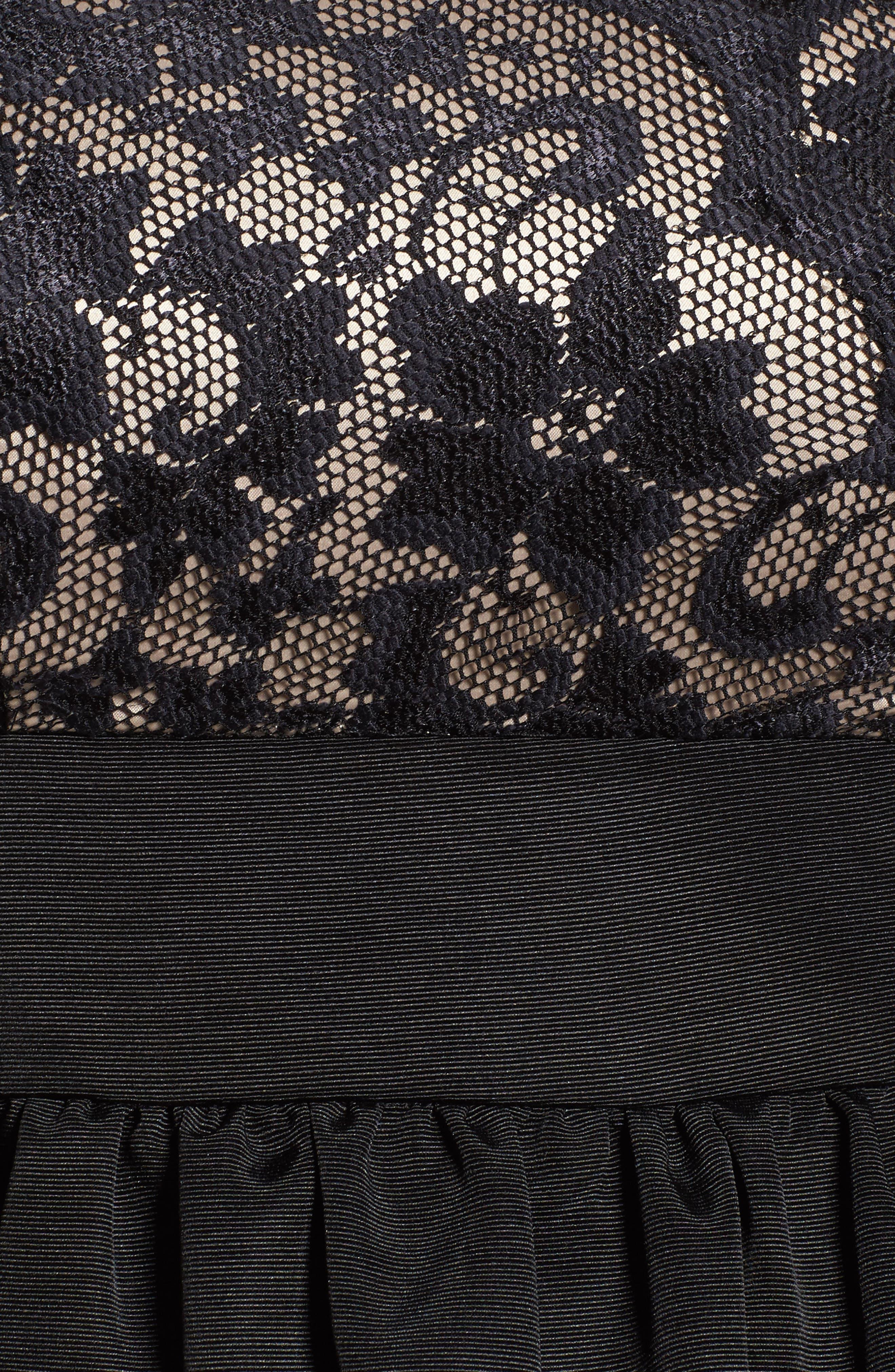 Lace & Faille Dress,                             Alternate thumbnail 11, color,