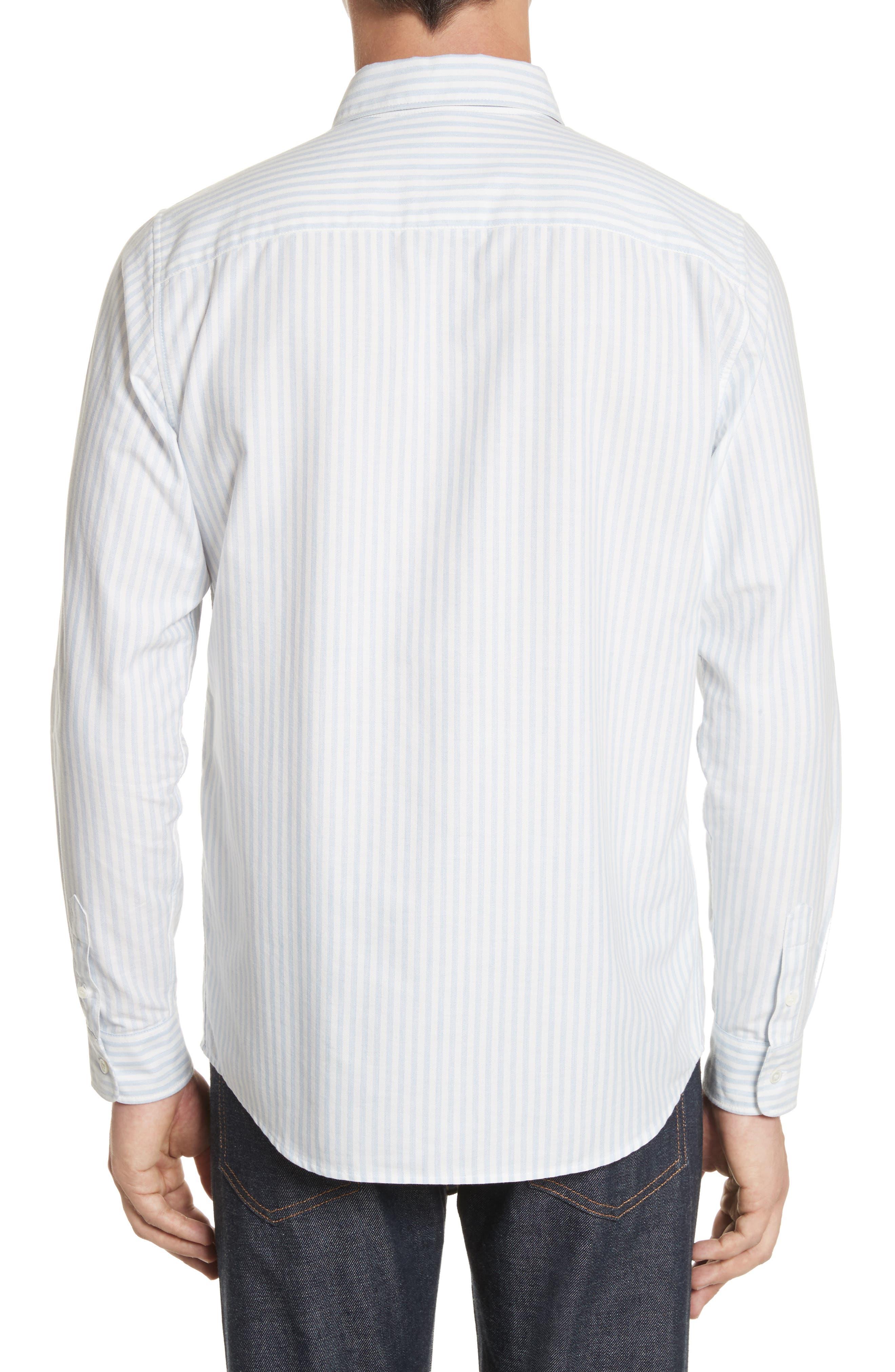 Oliver Stripe Oxford Shirt,                             Alternate thumbnail 2, color,                             430