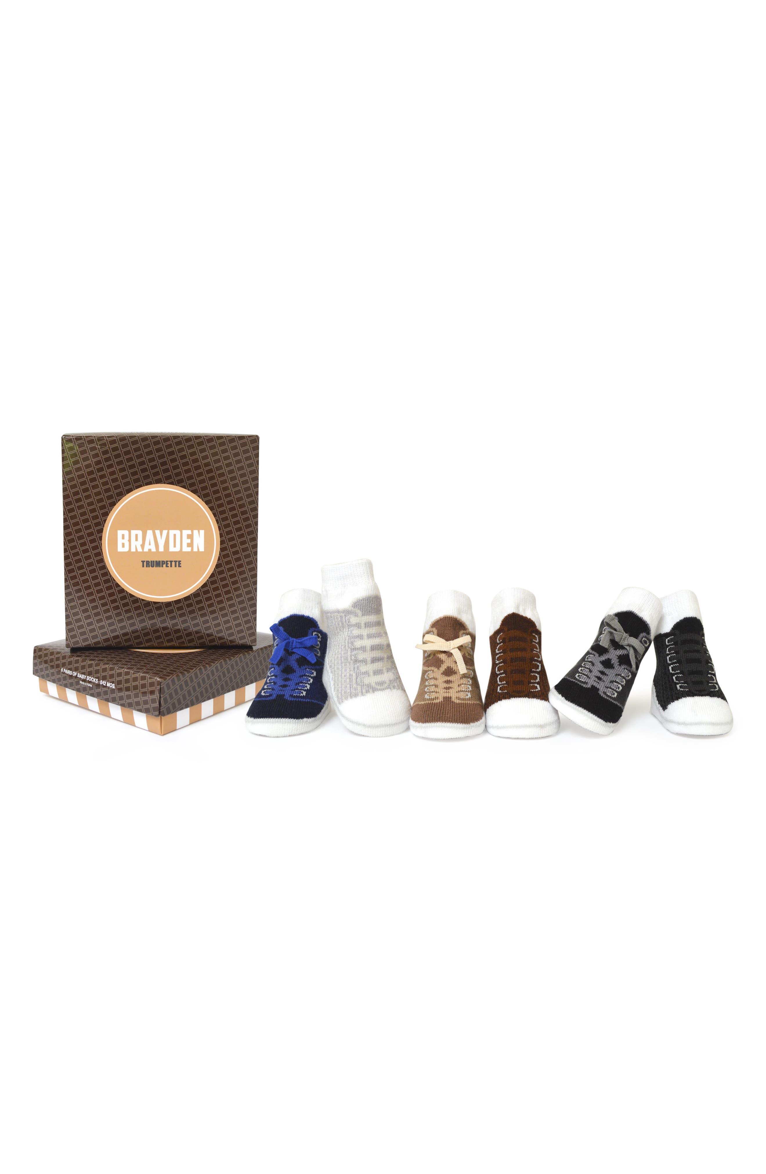 Brayden 6-Pack Socks,                             Main thumbnail 1, color,                             200