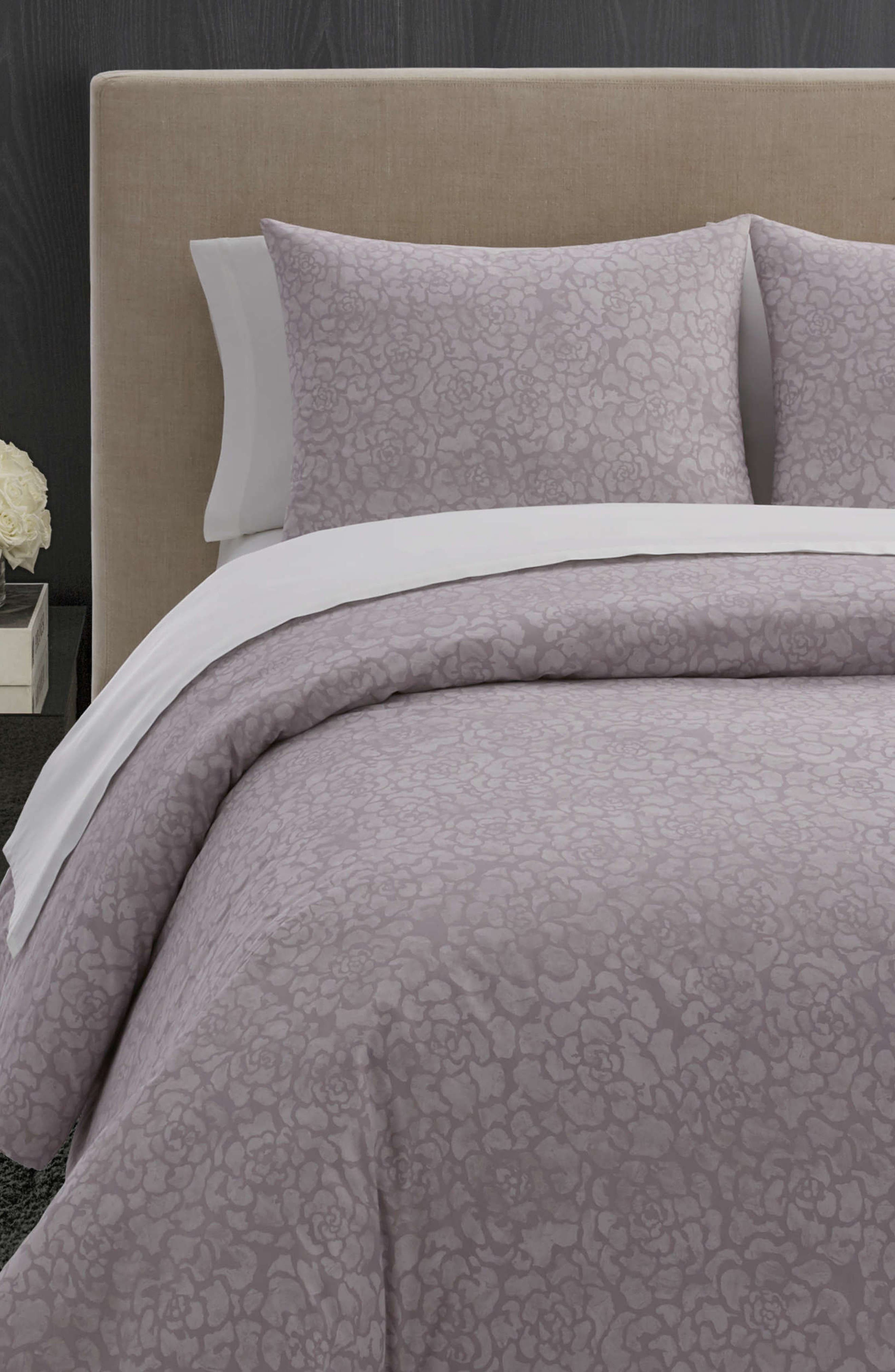 Textured Roses Comforter & Sham Set,                             Alternate thumbnail 2, color,                             LILAC