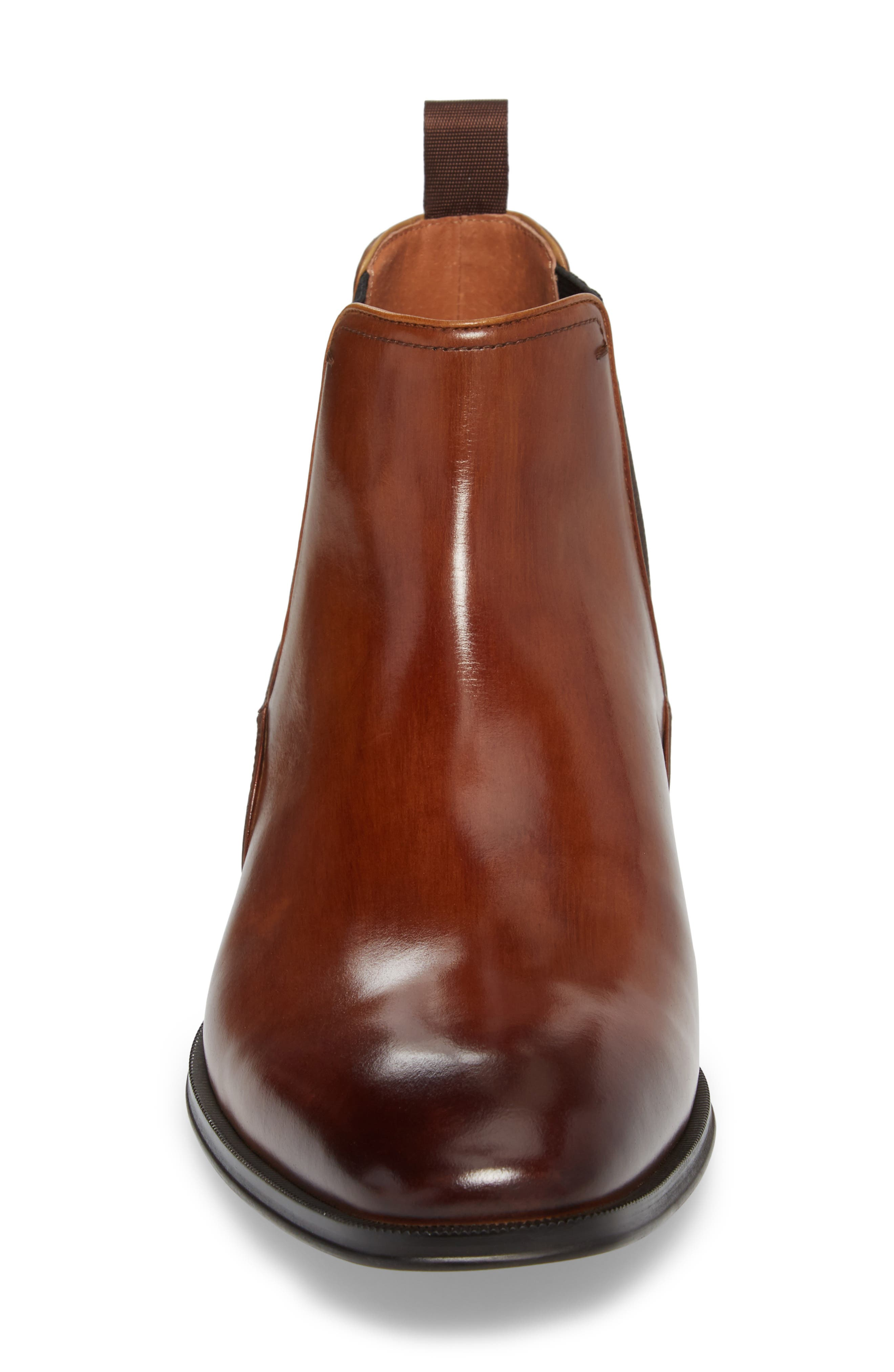 Belfast Chelsea Boot,                             Alternate thumbnail 4, color,                             COGNAC LEATHER
