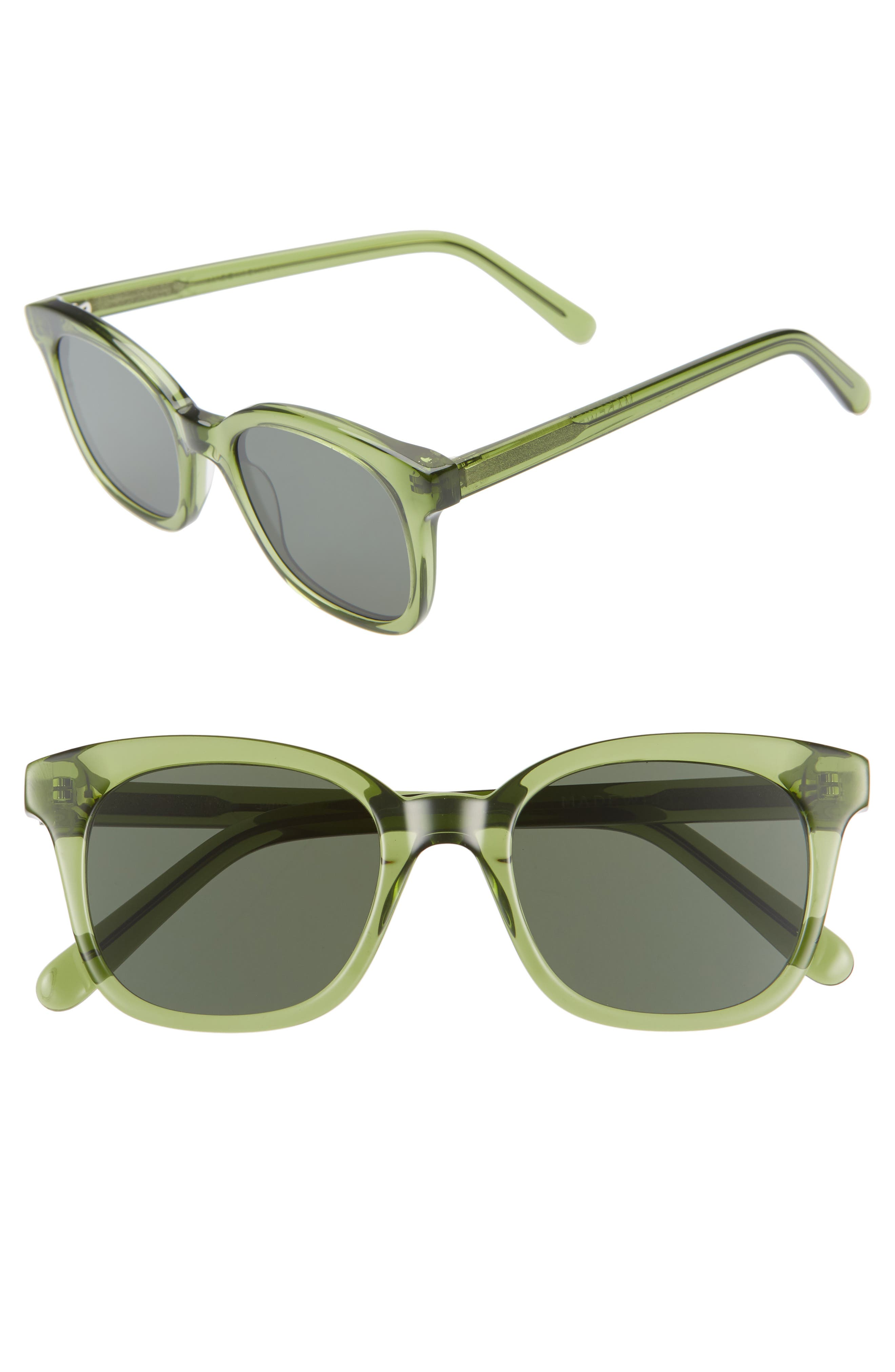 Madewell Venice 4m Flat Frame Sunglasses - Sweet Pine Glass