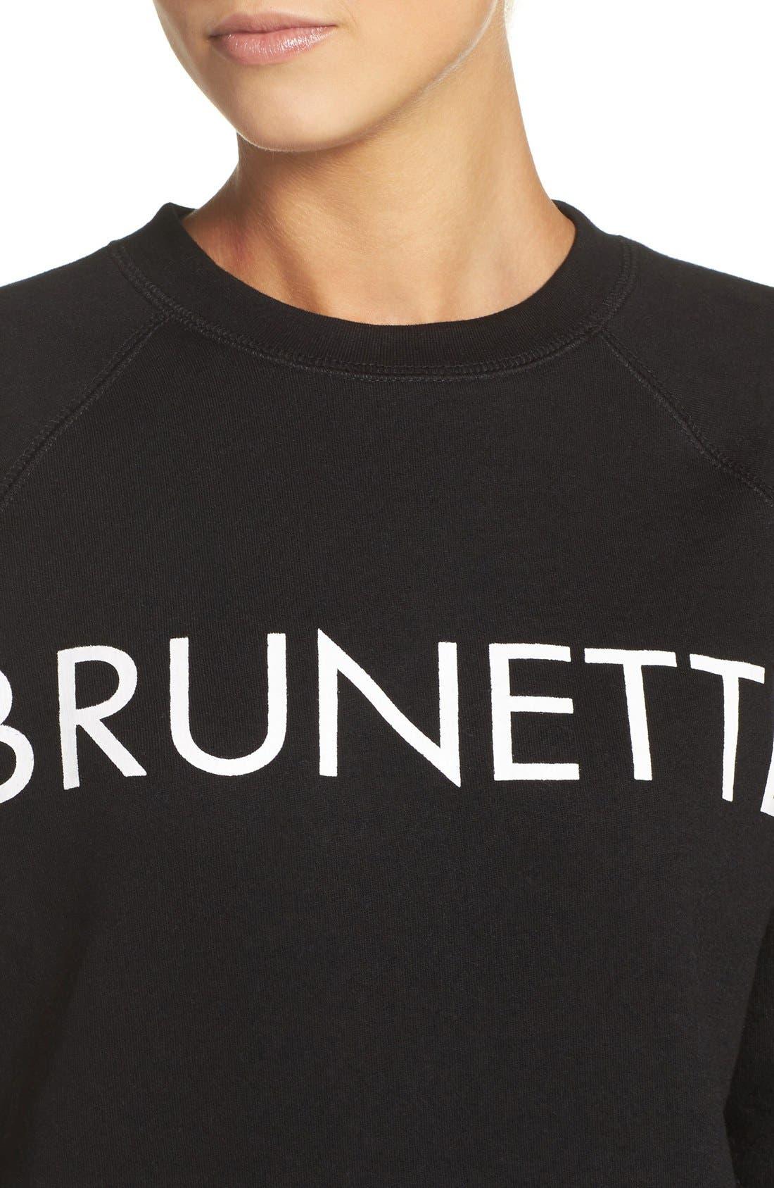 Brunette Crewneck Sweatshirt,                             Alternate thumbnail 9, color,                             001