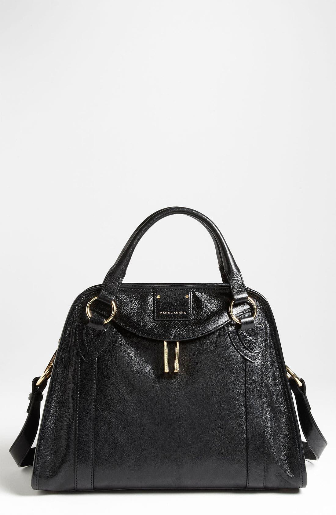 'Classic Wellington' Leather Satchel,                             Main thumbnail 3, color,