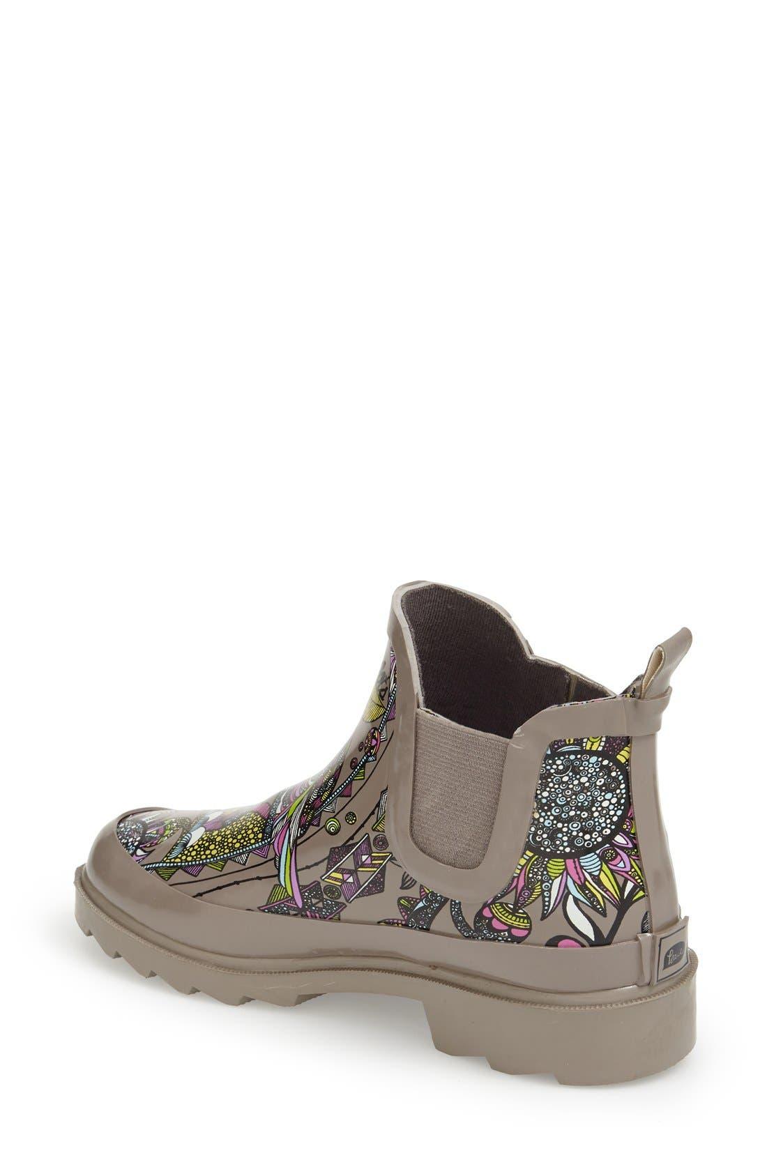 'Rhyme' Waterproof Rain Boot,                             Alternate thumbnail 32, color,