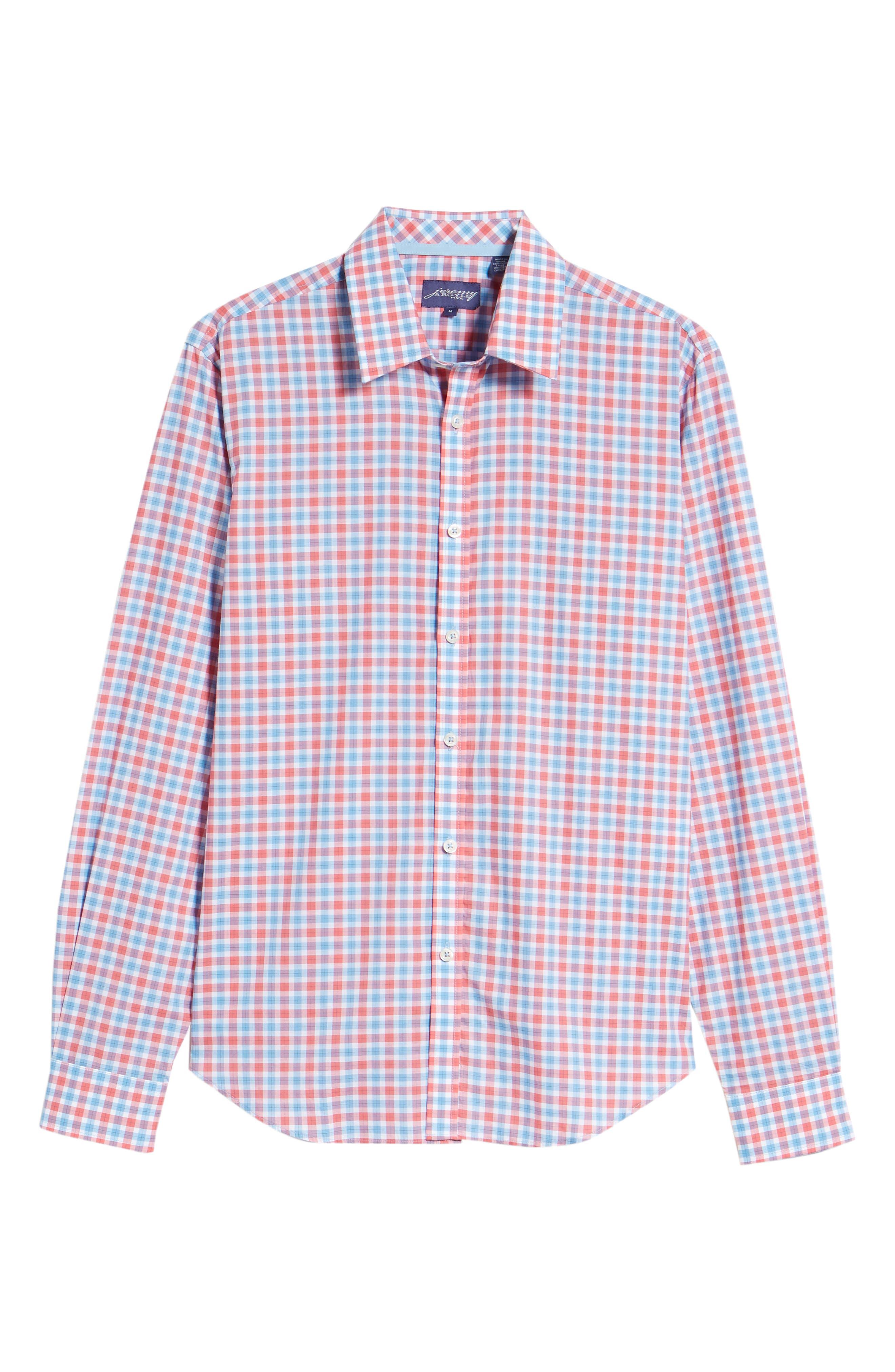Slim Fit Check Sport Shirt,                             Alternate thumbnail 6, color,                             814