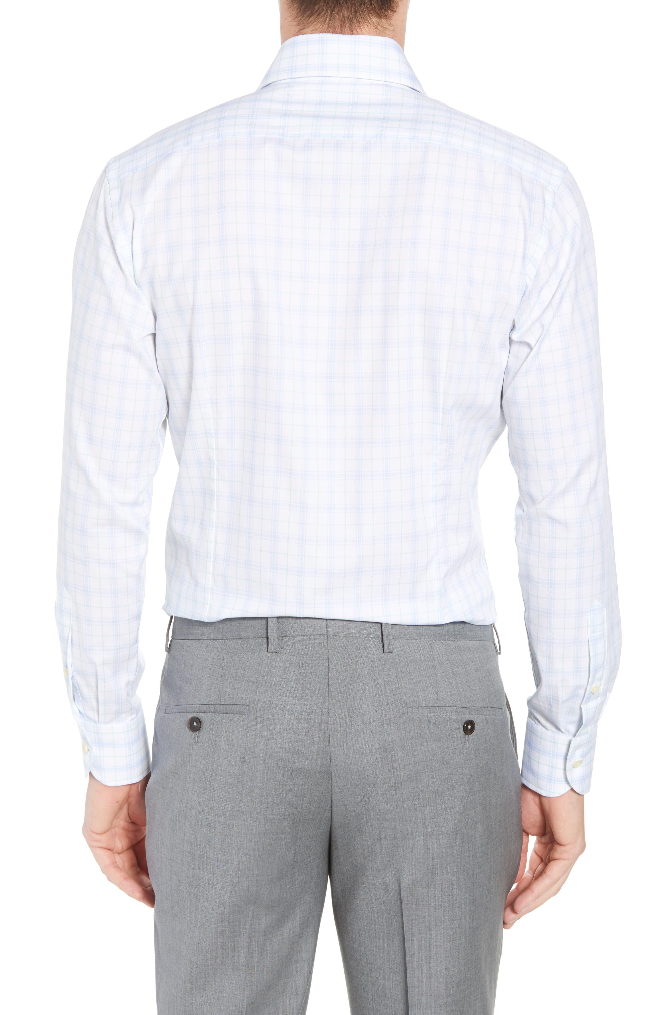 Lymann Trim Fit Plaid Dress Shirt,                             Alternate thumbnail 3, color,                             410