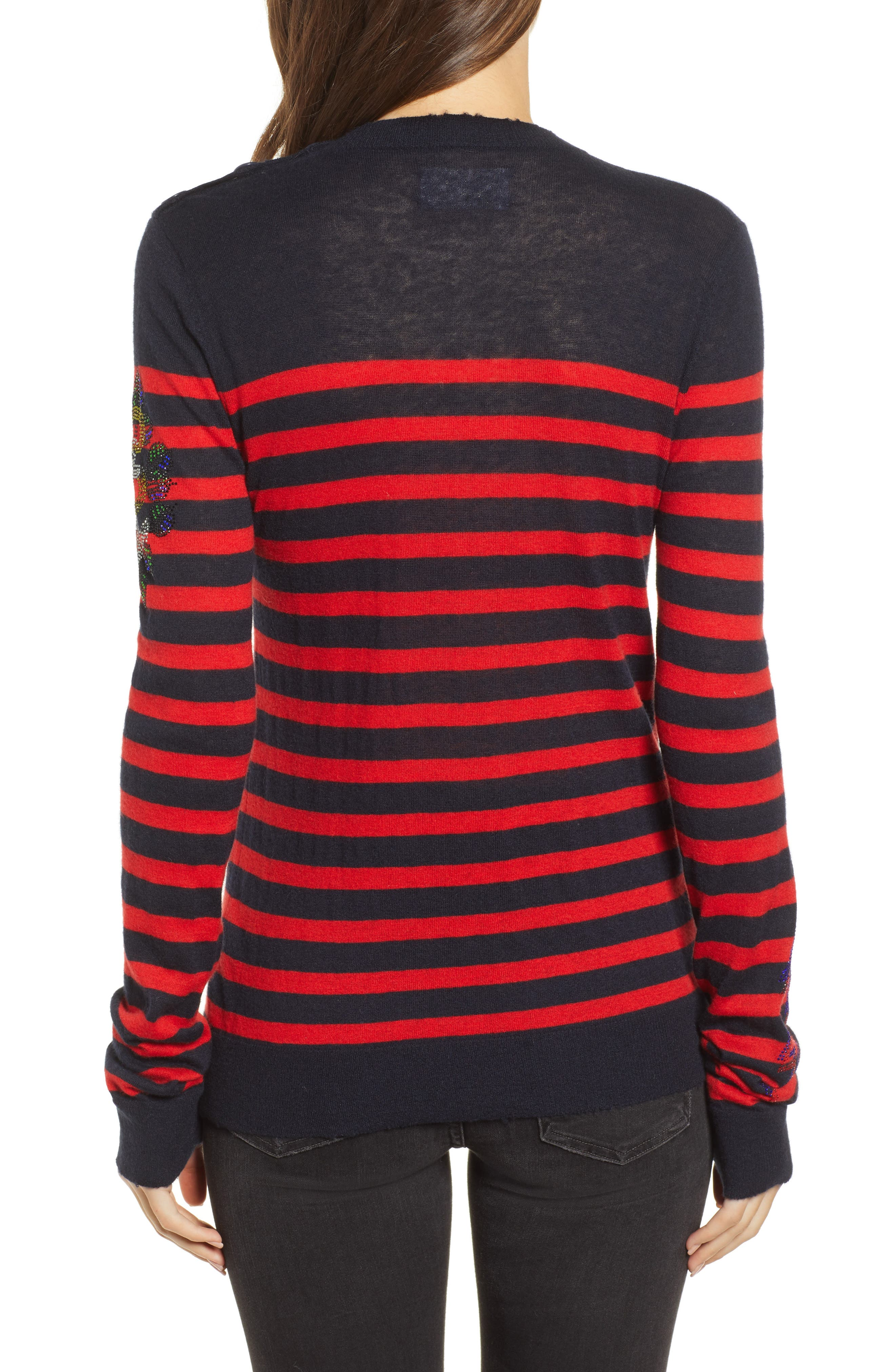 Delly Bis Cashmere Sweater,                             Alternate thumbnail 2, color,                             ENCRE/ ROUGE
