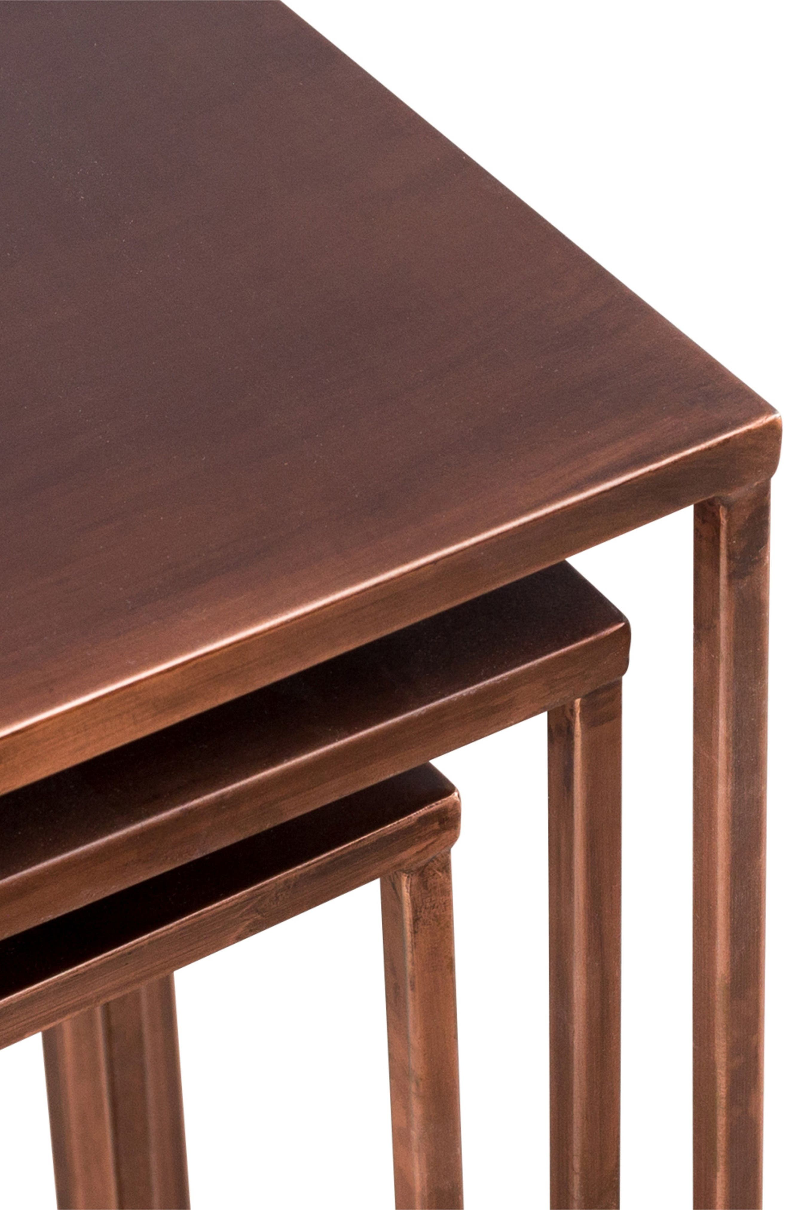 Pollock Set of 3 Tall Nesting Tables,                             Alternate thumbnail 2, color,                             COPPER