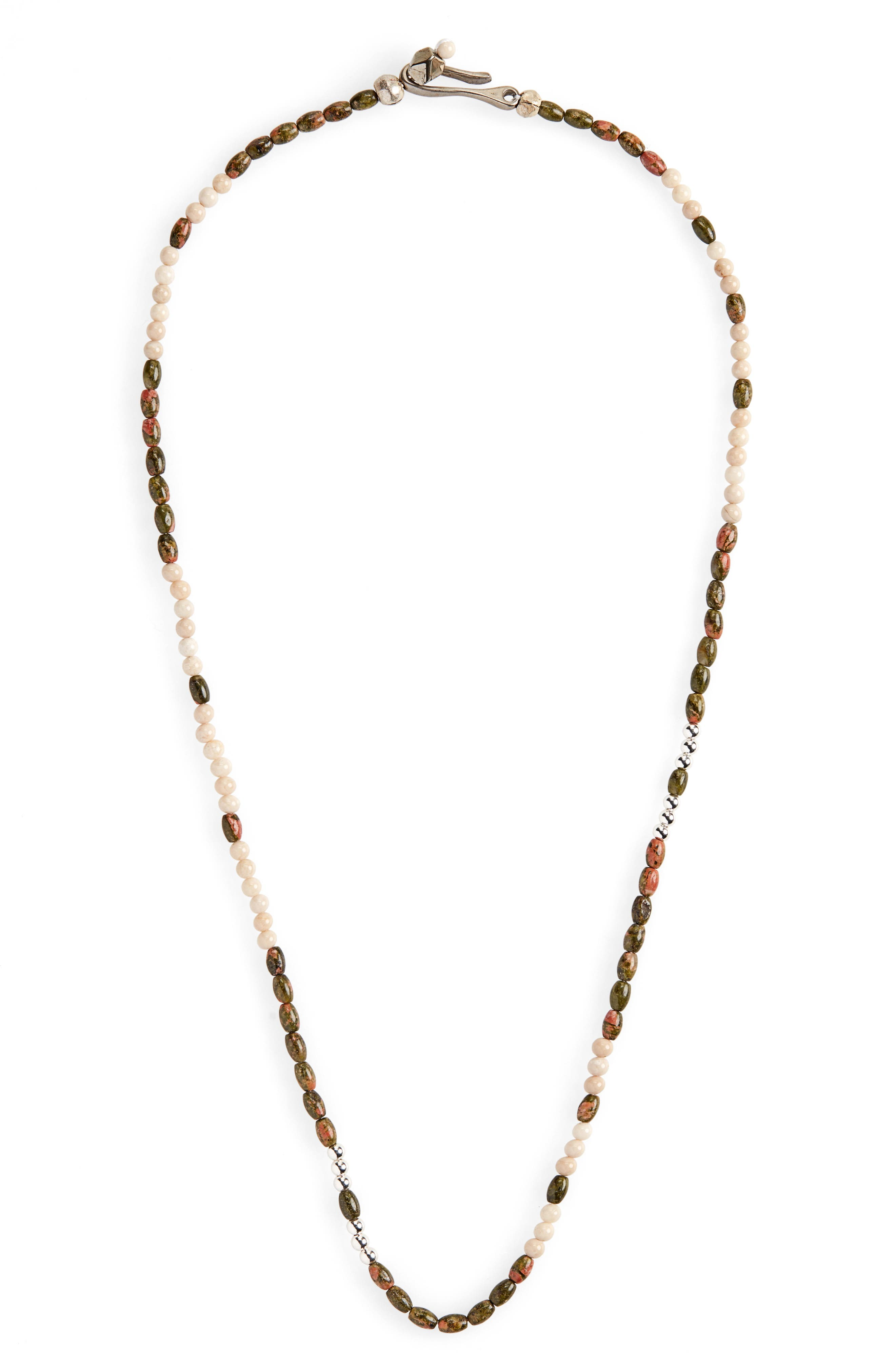 Morse Vision Necklace,                             Main thumbnail 1, color,                             WHITE/ BROWN