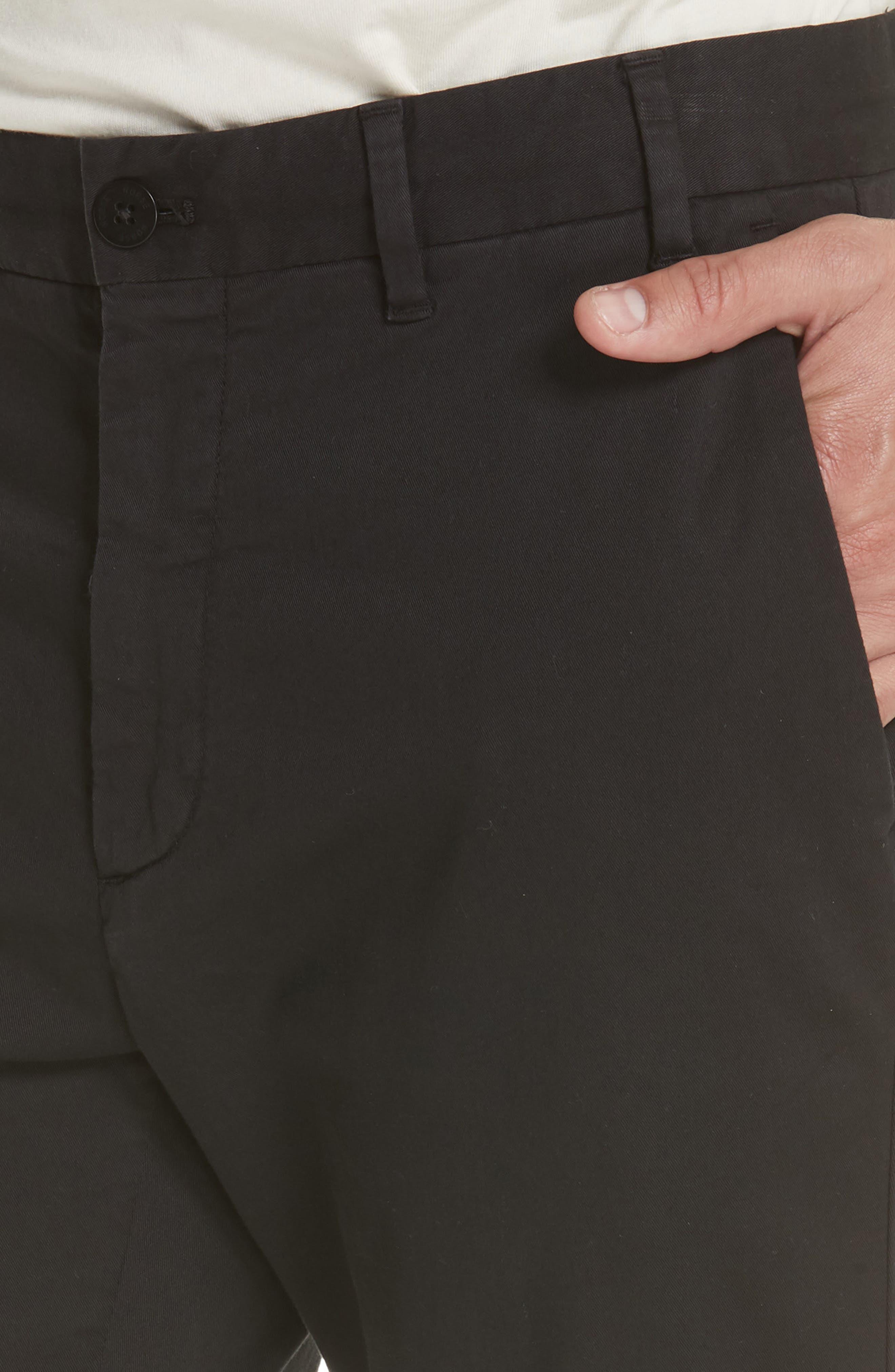 Aros Slim Fit Stretch Twill Pants,                             Alternate thumbnail 4, color,                             BLACK