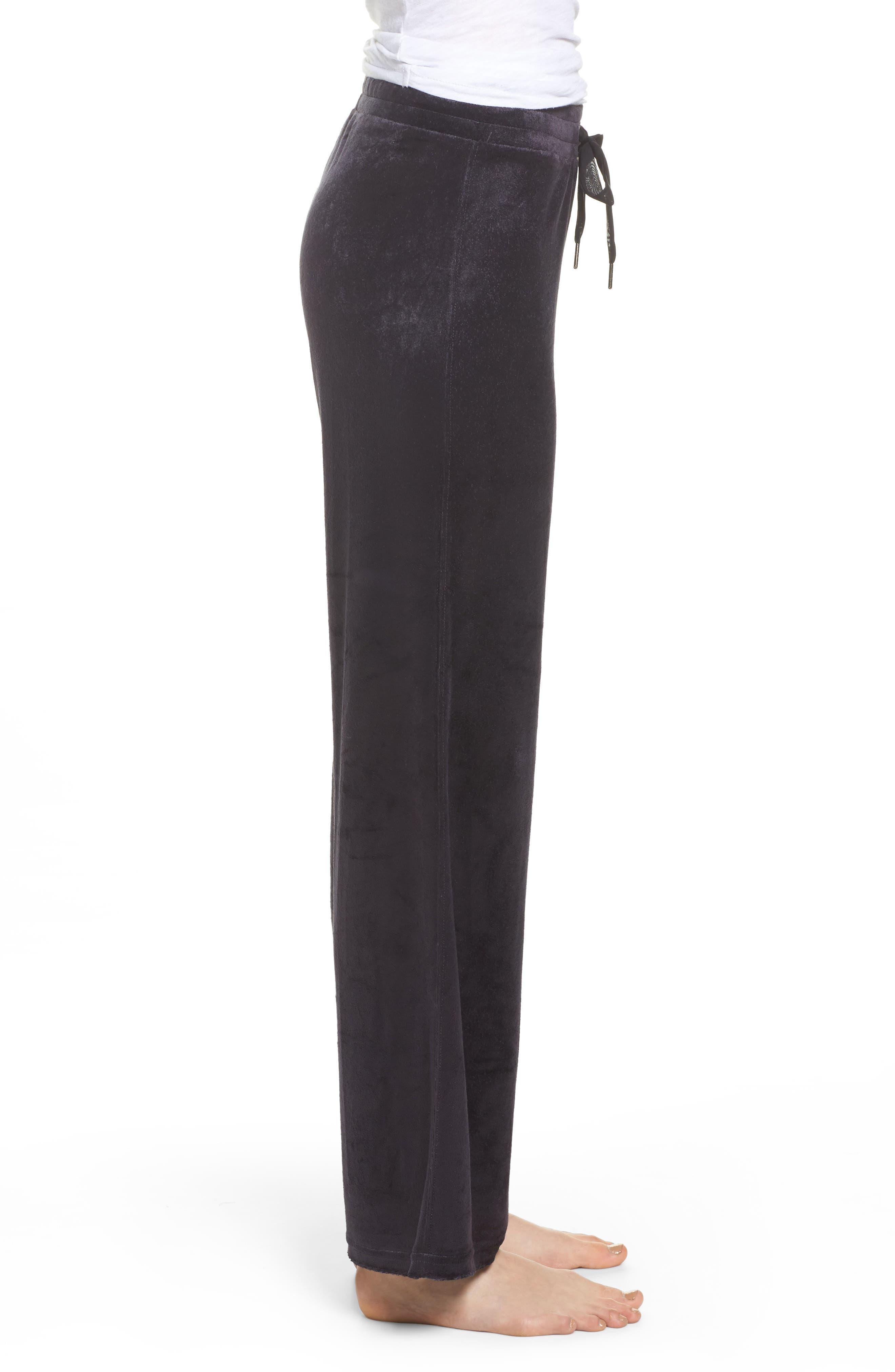Paris Wide Leg Velour Pants,                             Alternate thumbnail 5, color,