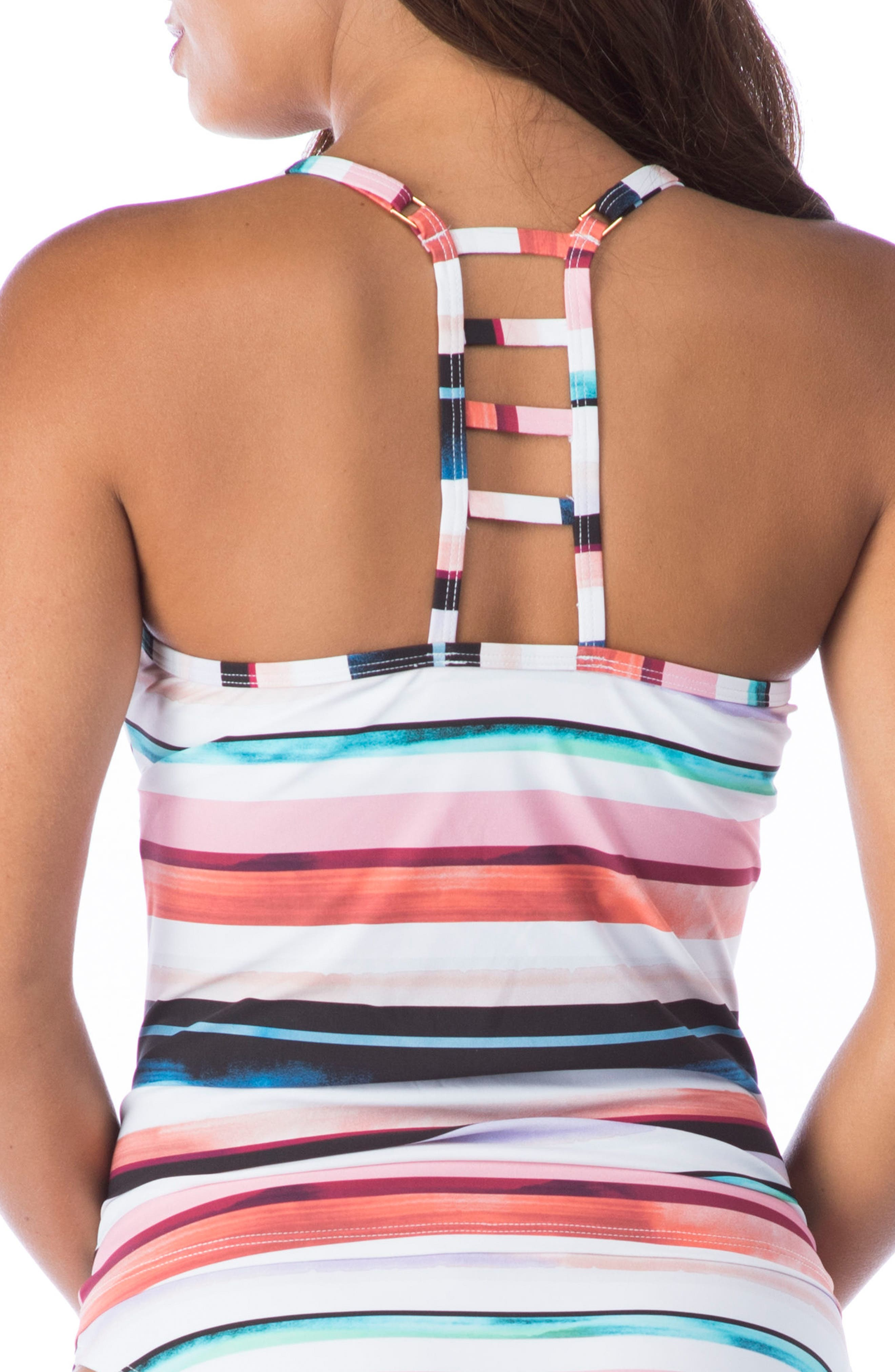 Meridian Tankini Top,                             Alternate thumbnail 3, color,                             MULTI