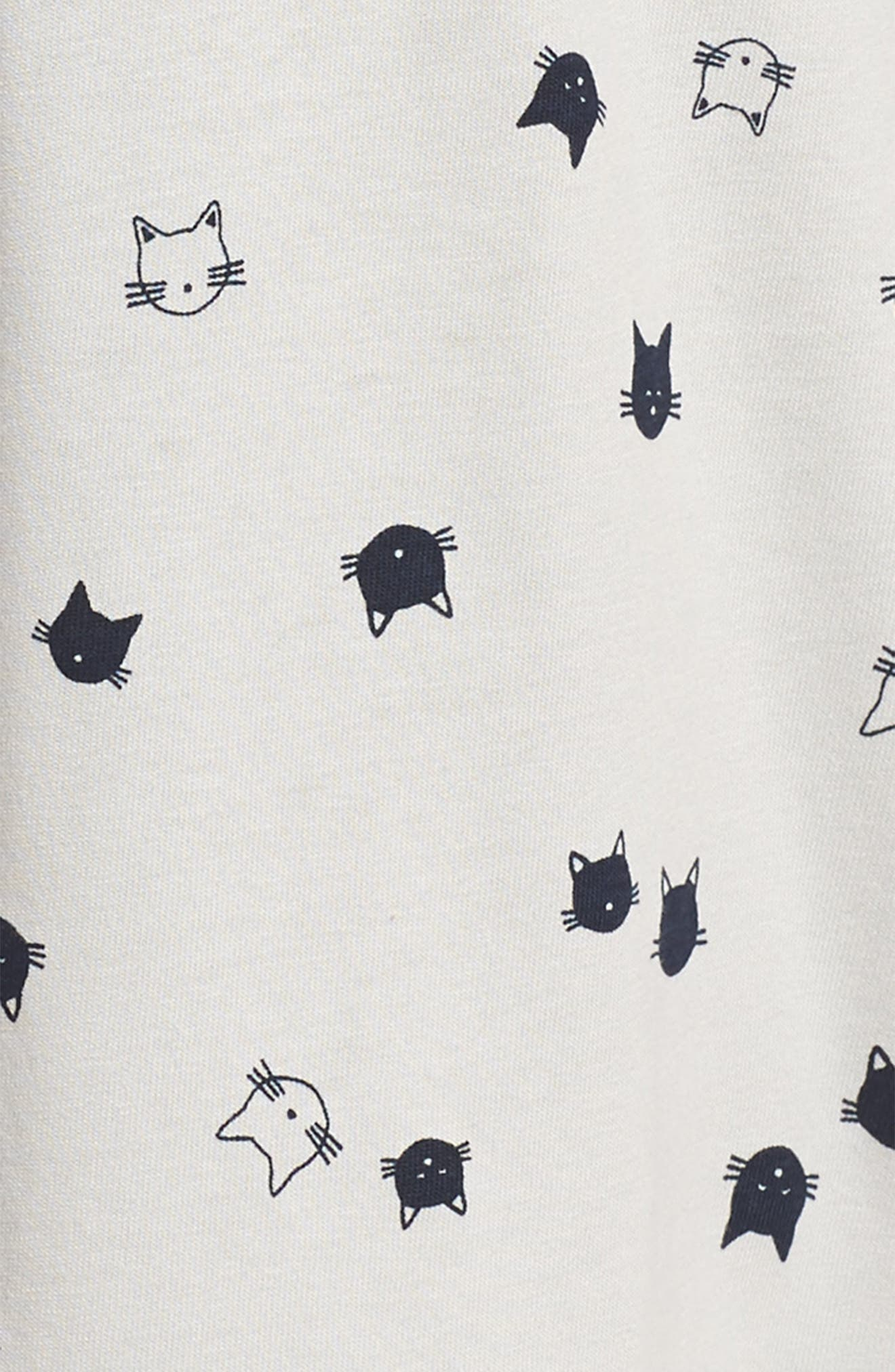 Cat Print Dress,                             Alternate thumbnail 3, color,