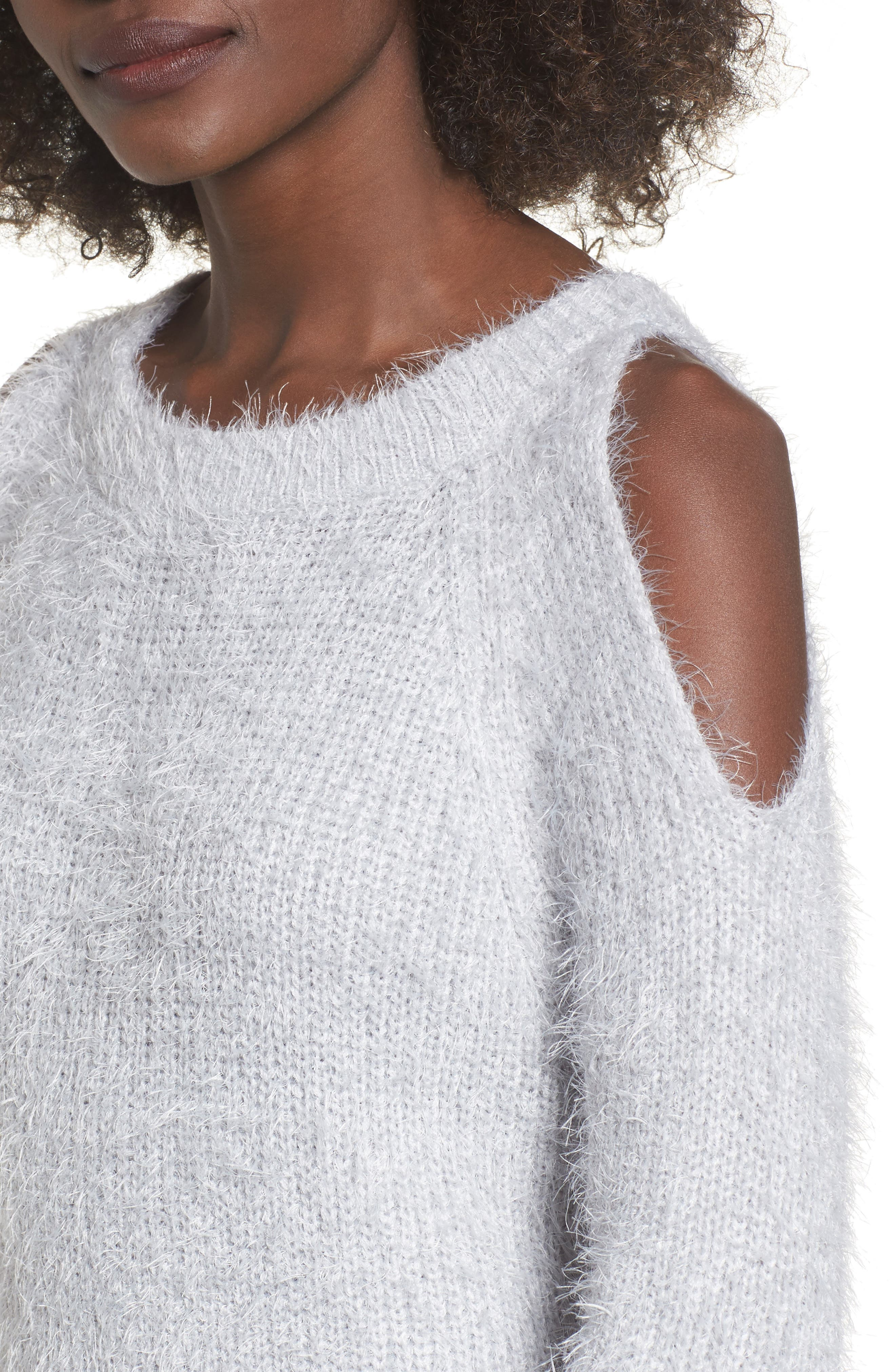 Cold Shoulder Sweater,                             Alternate thumbnail 4, color,