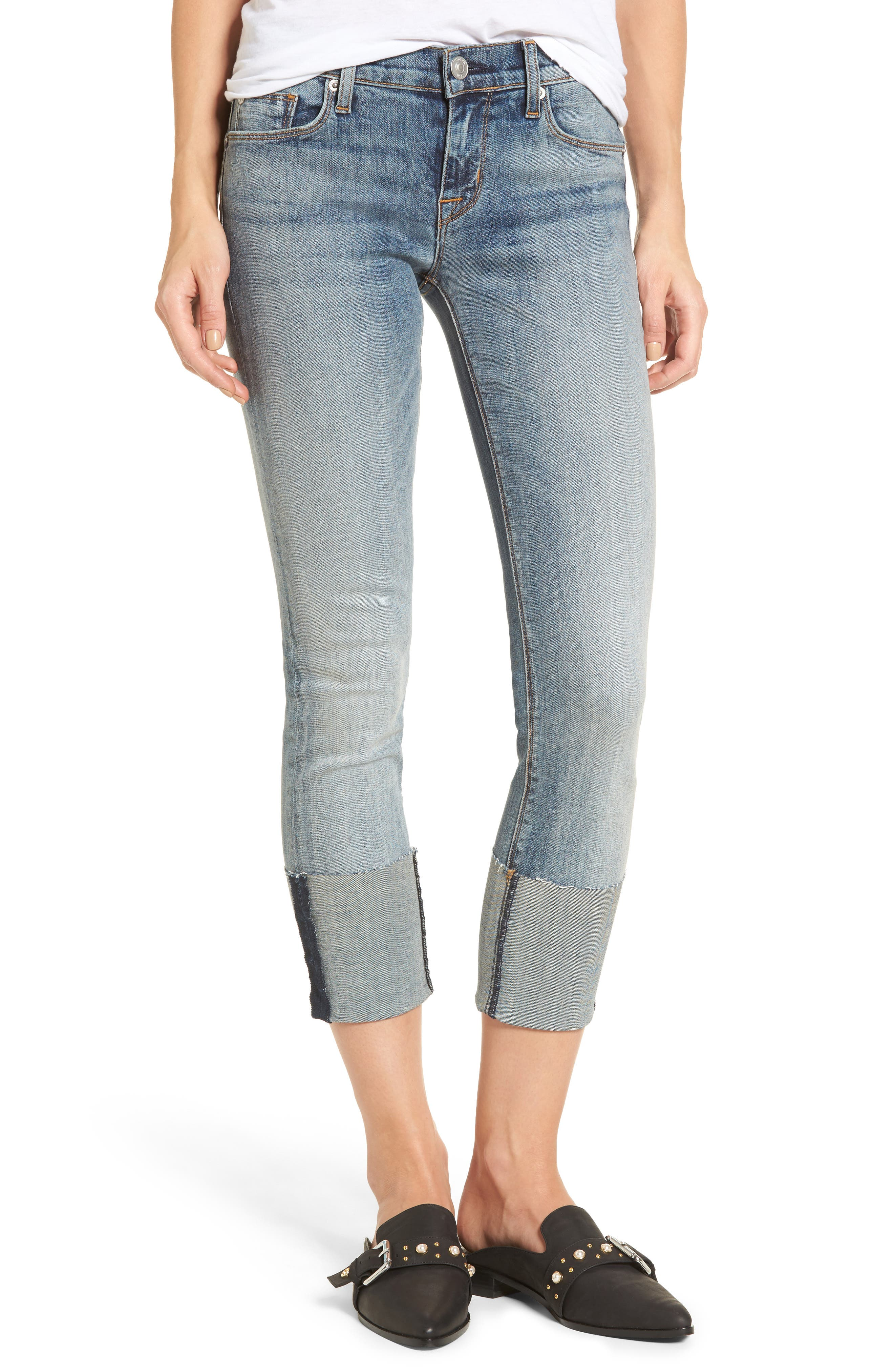 Tally Cuffed Crop Skinny Jeans,                             Main thumbnail 2, color,