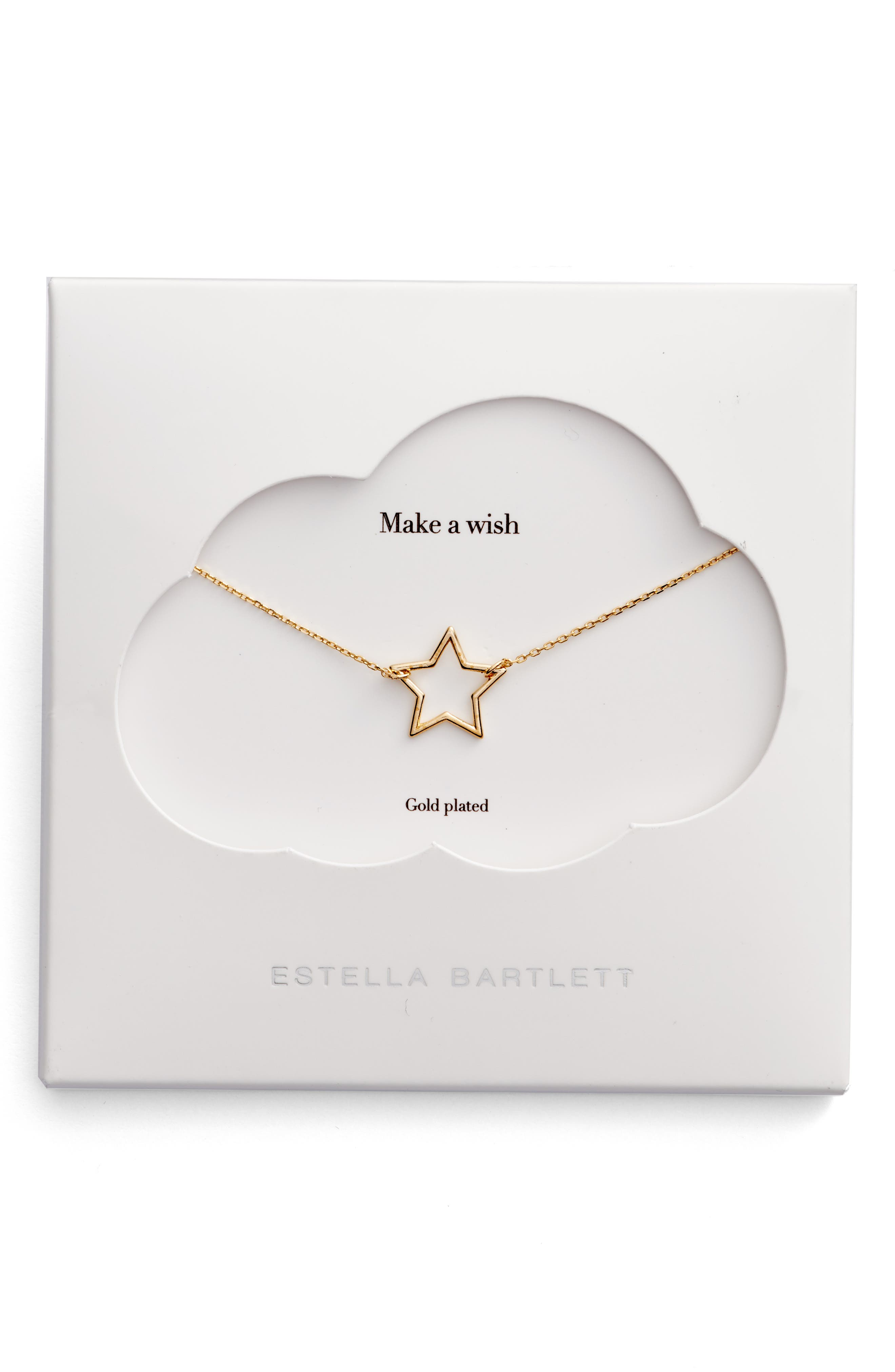 Open Star Pendant Necklace,                             Main thumbnail 1, color,                             710