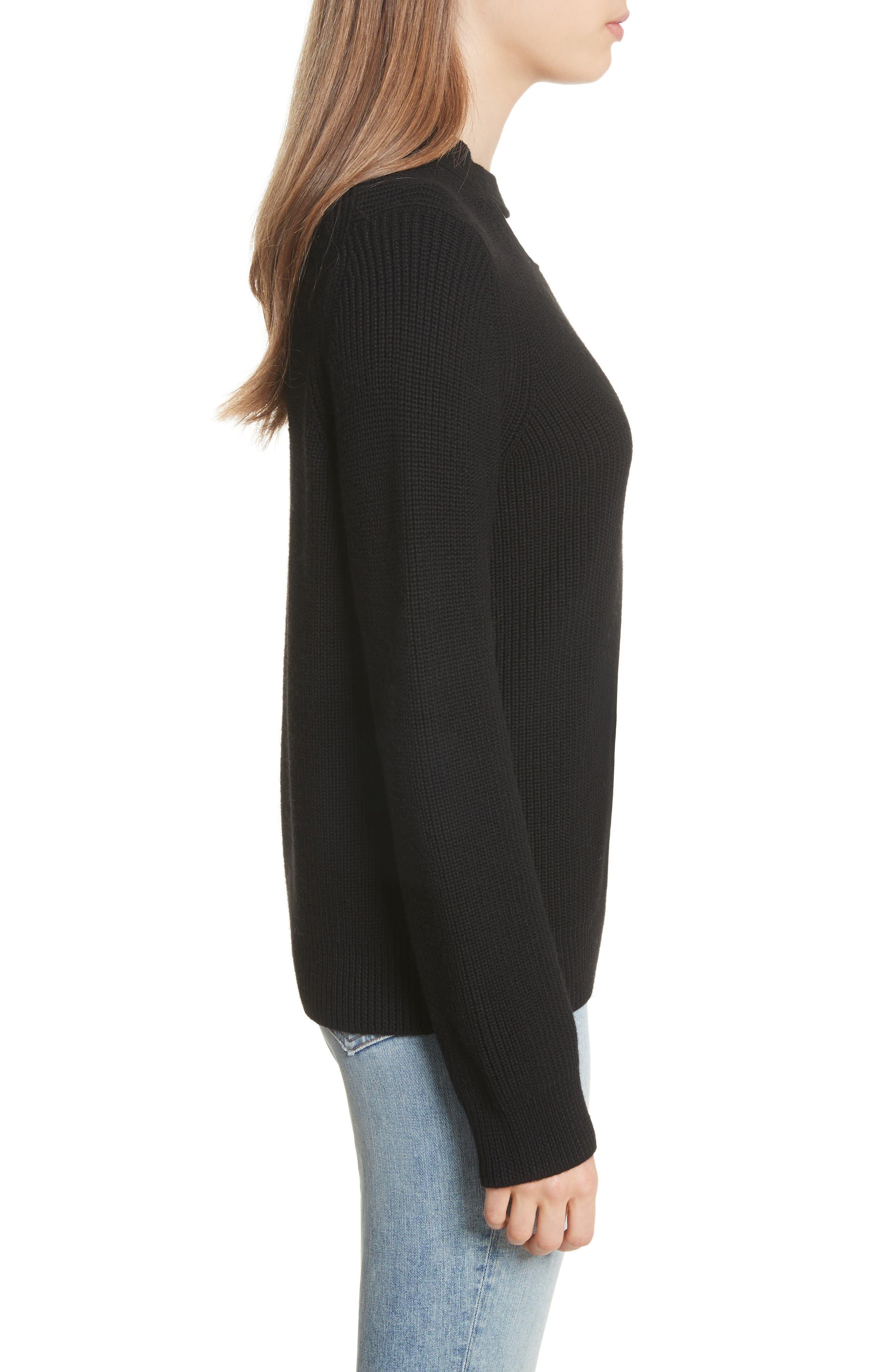Tori Cutout Sweatshirt,                             Alternate thumbnail 3, color,                             001
