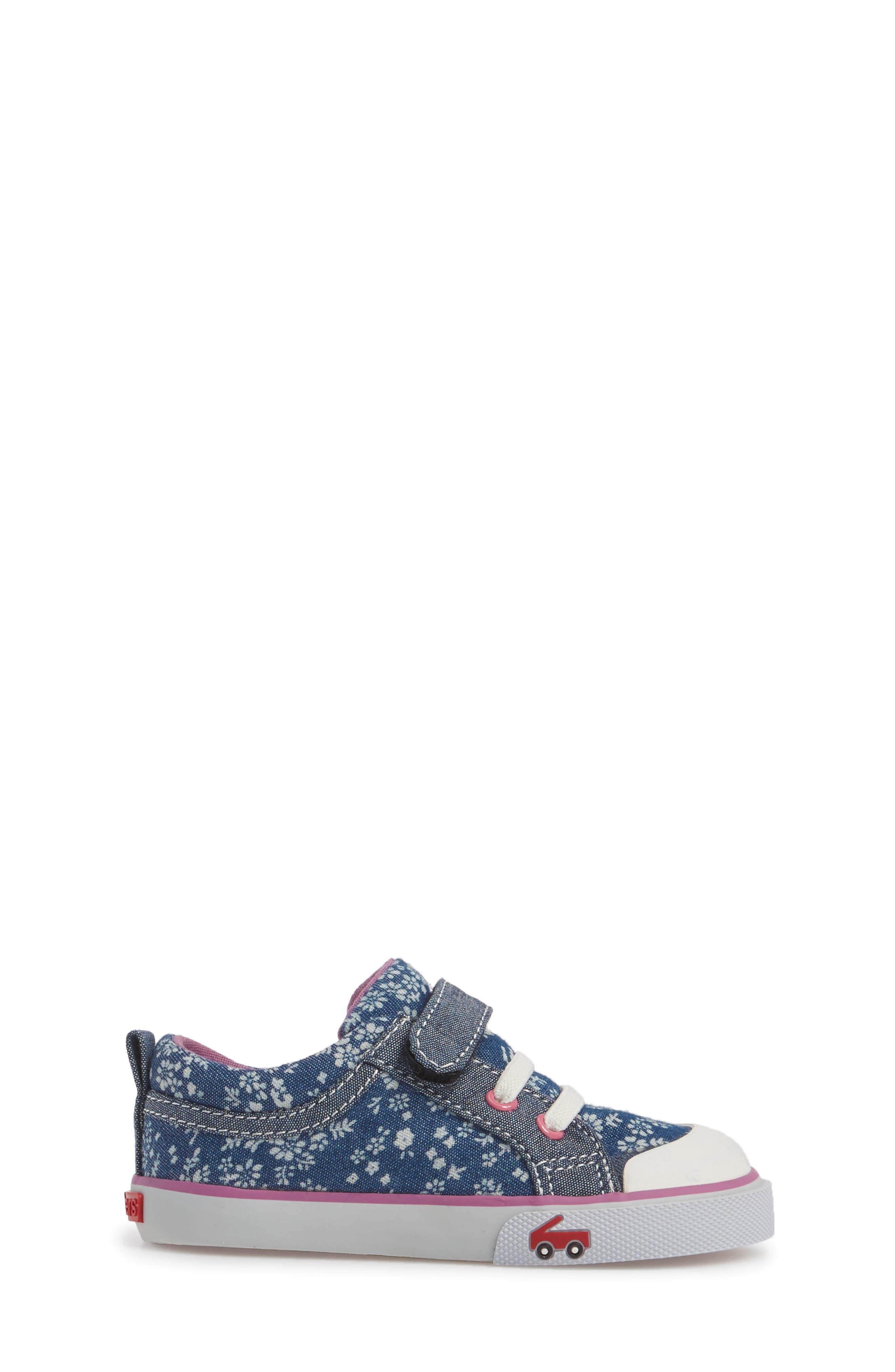 Kristin Sneaker,                             Alternate thumbnail 3, color,                             BLUE FLOWERS