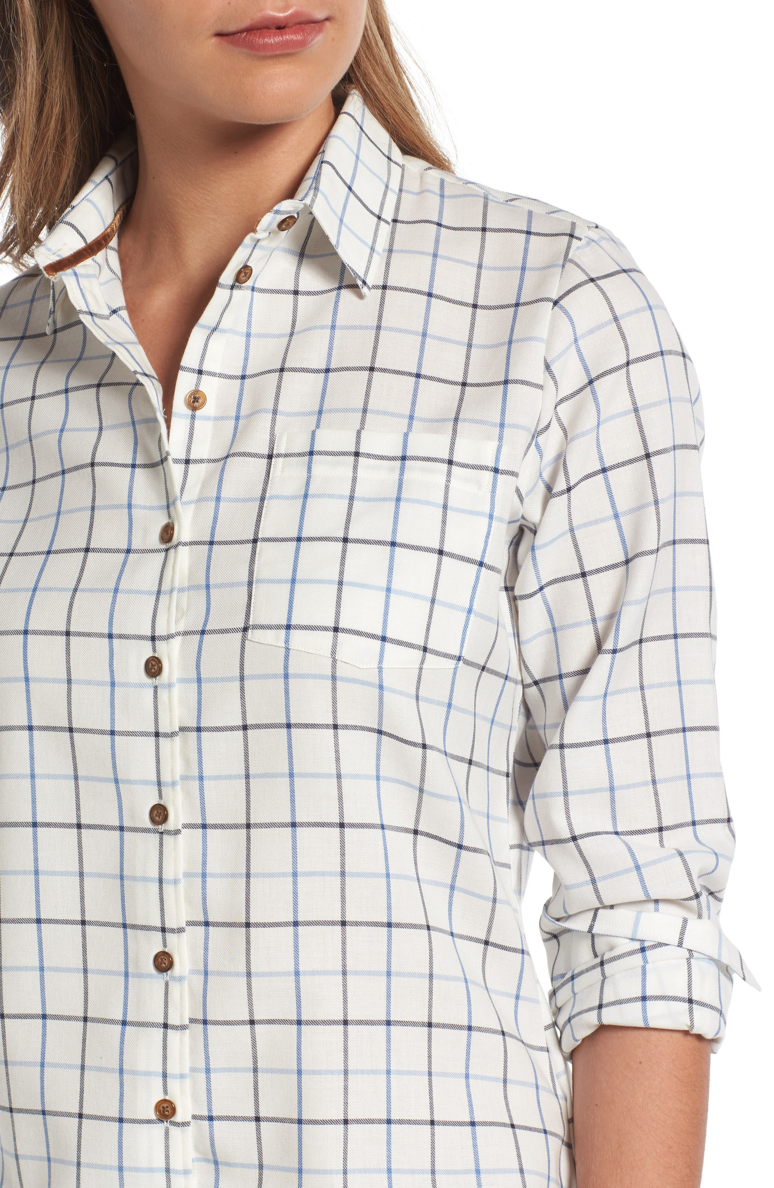 Triplebar Check Shirt,                             Alternate thumbnail 4, color,                             450