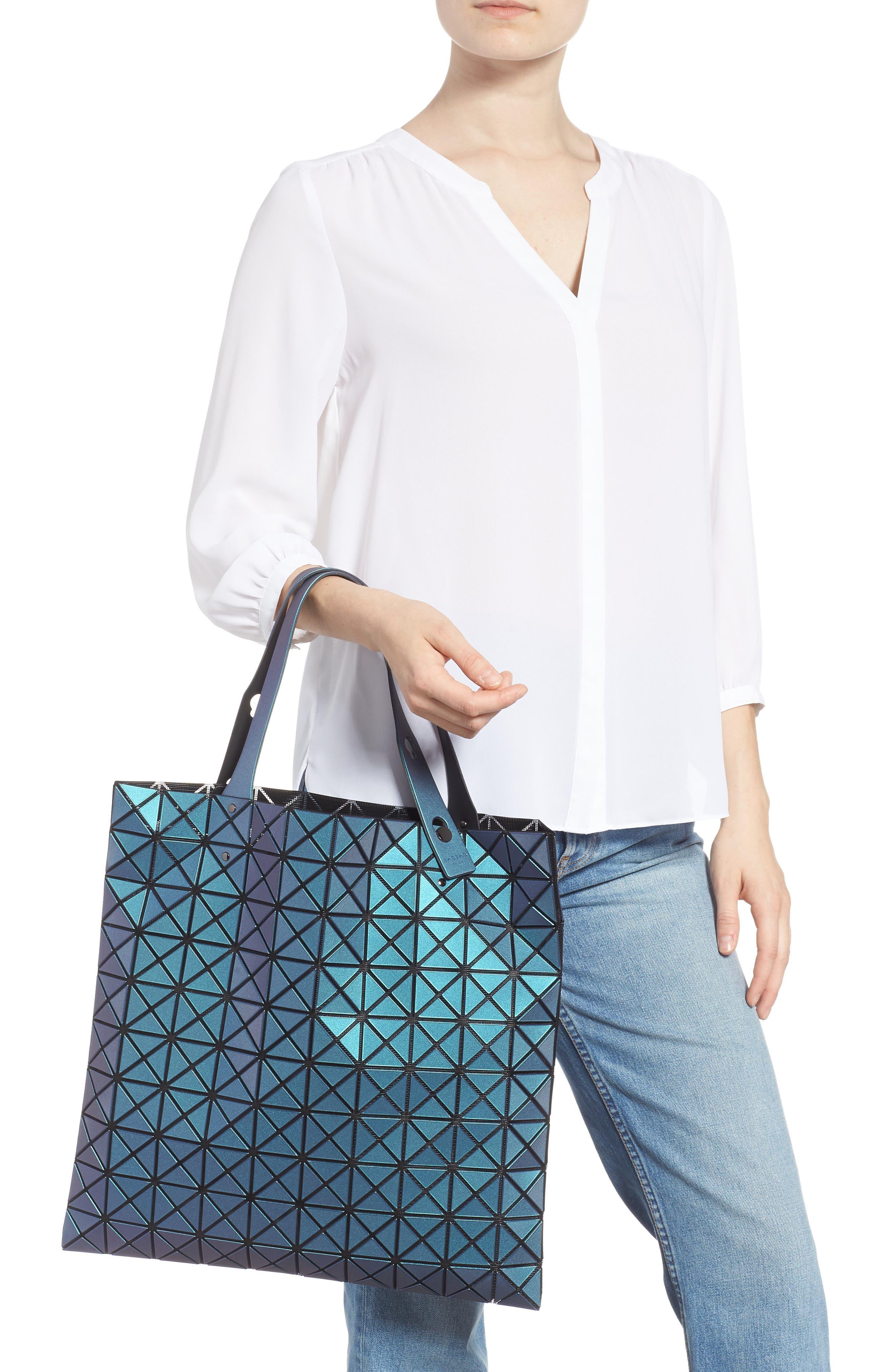 Prism Metallic Tote Bag,                             Alternate thumbnail 2, color,                             BLUE