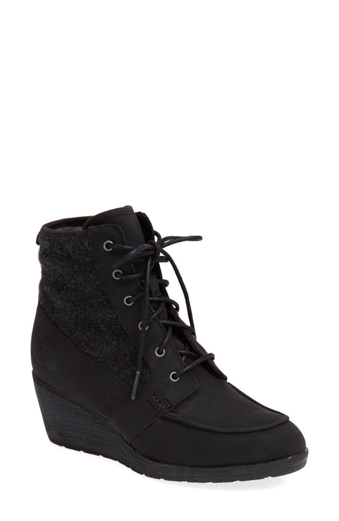 'Bridgeton Wedge Lace' Waterproof Boot,                         Main,                         color, 001