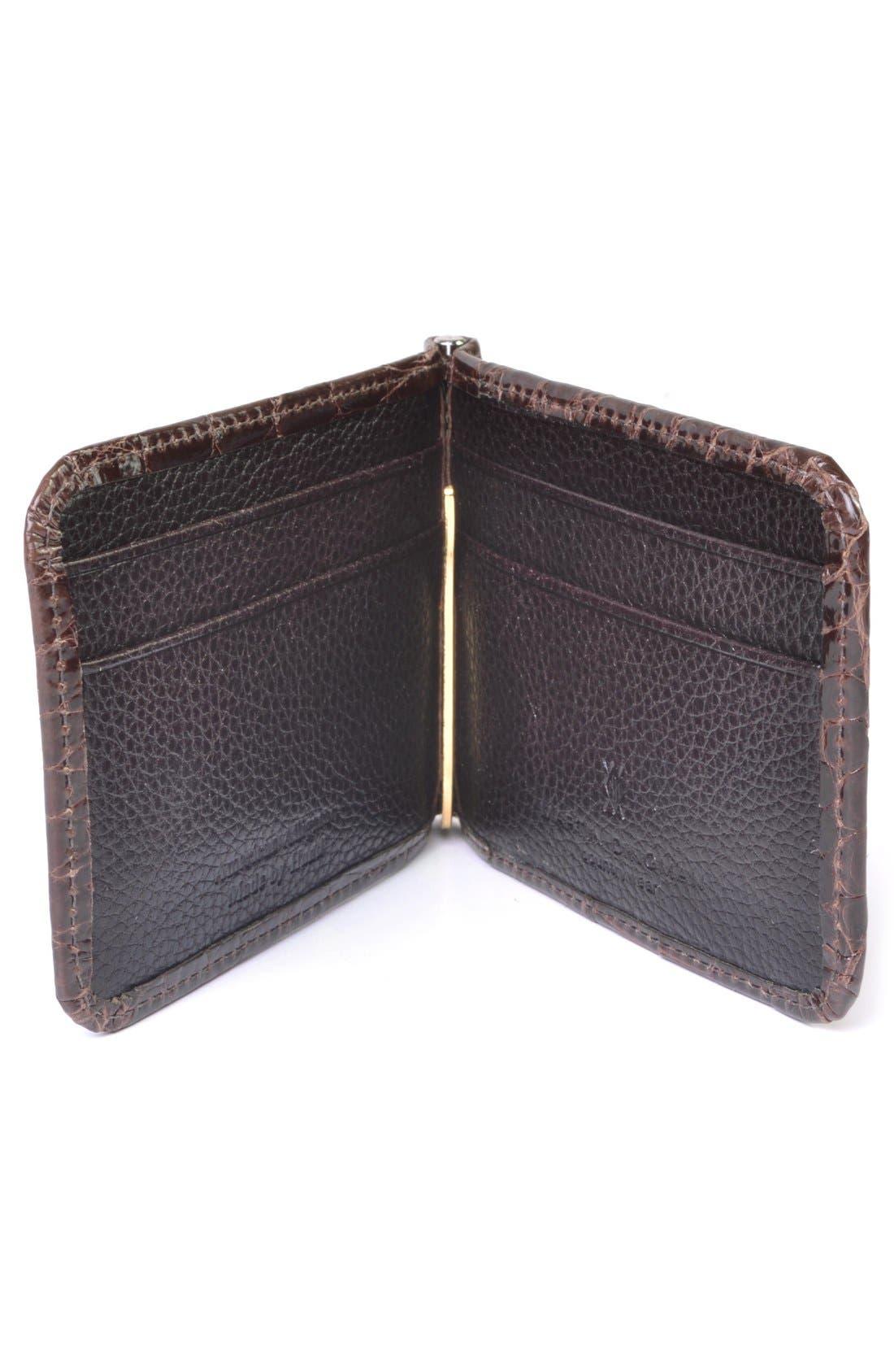 'Joseph' Genuine American Alligator Leather Money Clip Wallet,                             Alternate thumbnail 2, color,                             215