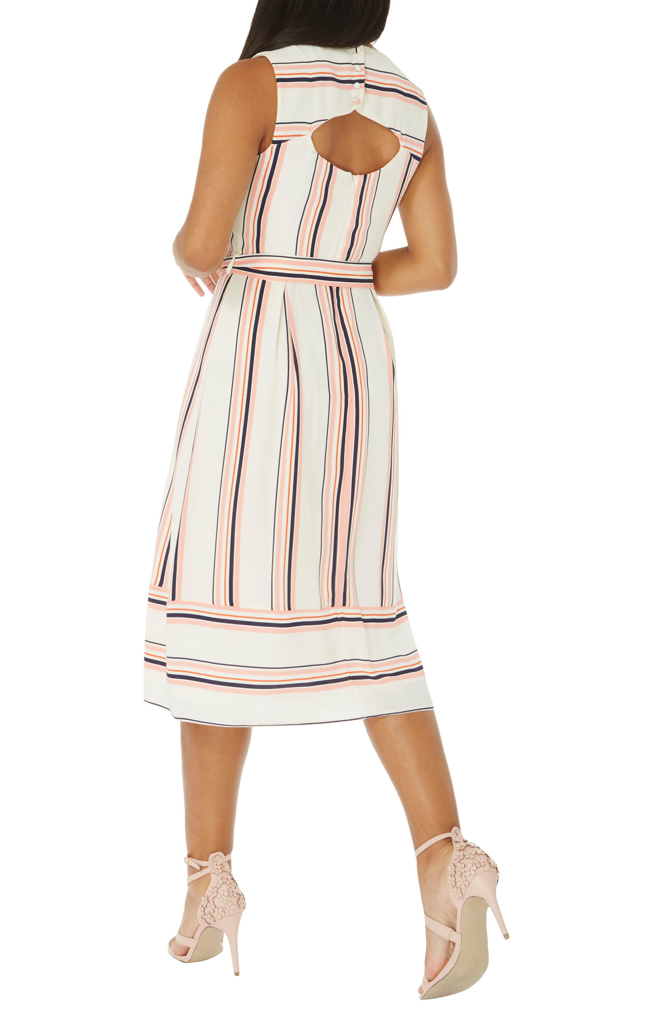 Stripe Midi Dress,                             Alternate thumbnail 2, color,                             101