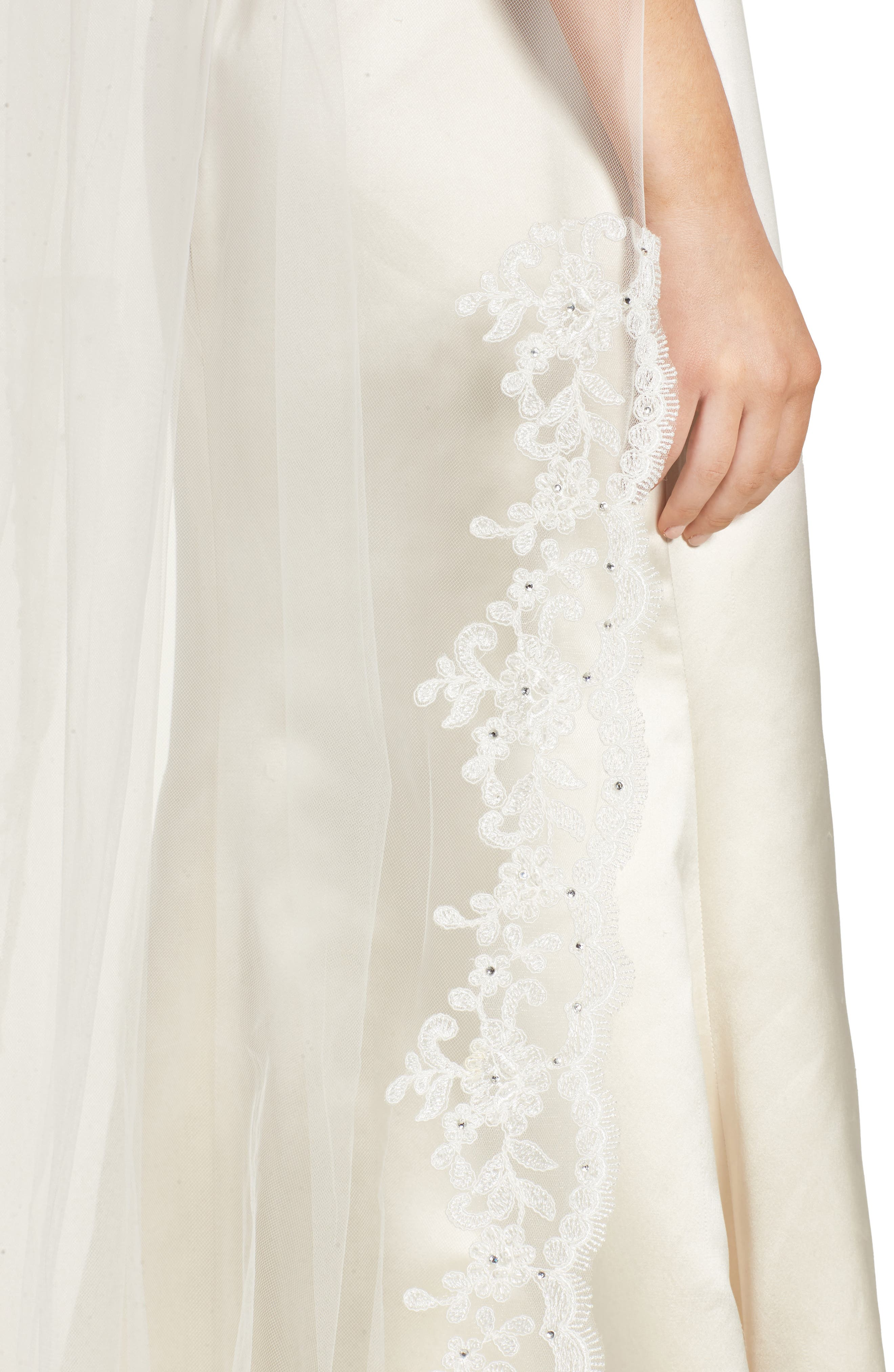 Ophelia Embroidered Cathedral Veil,                             Alternate thumbnail 2, color,                             901