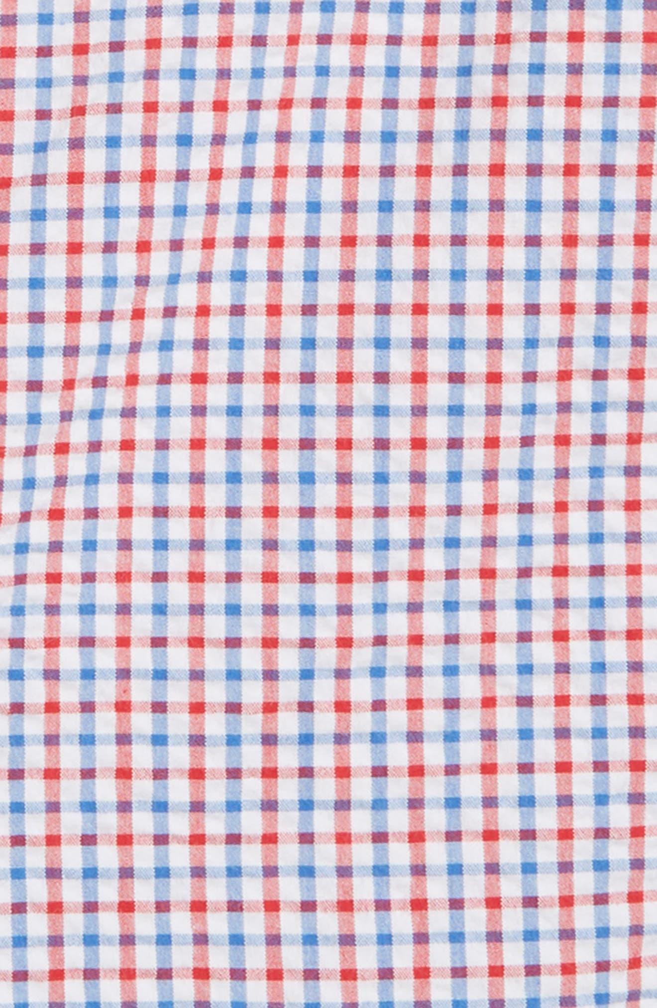 Gingham Seersucker Breaker Shorts,                             Alternate thumbnail 2, color,                             SPINNAKER