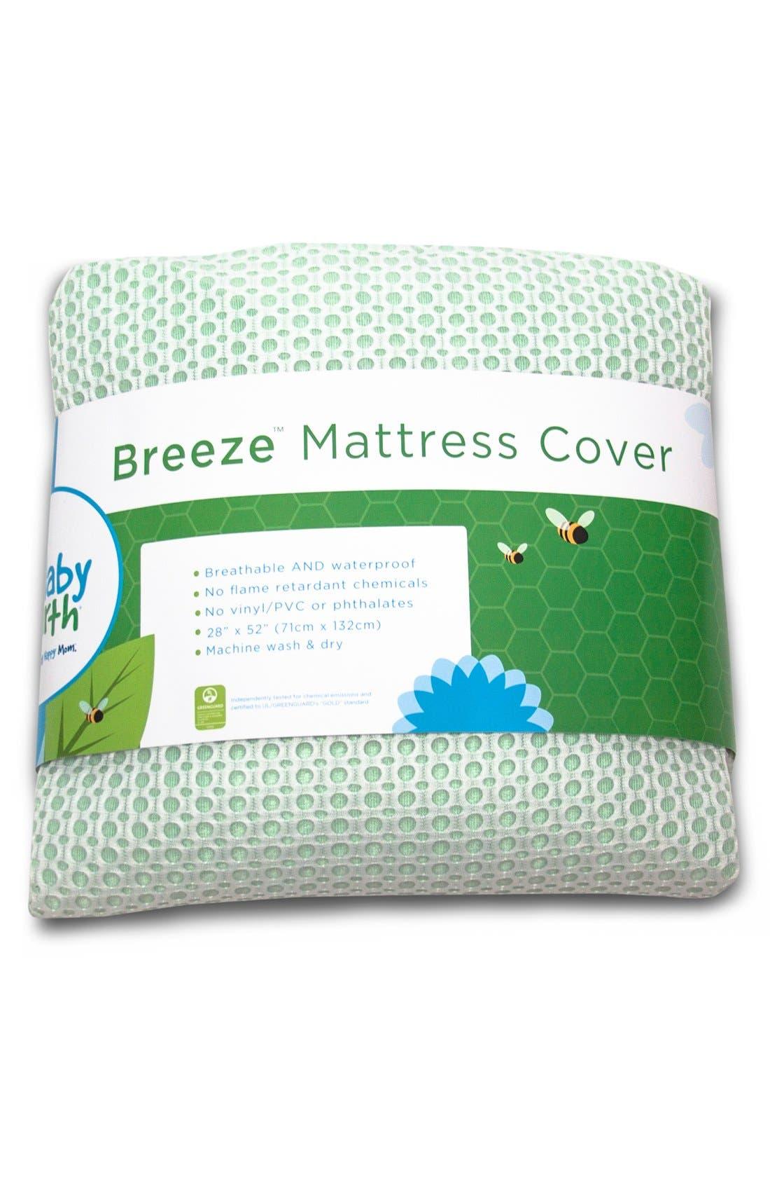 'Breeze' Waterproof Crib Mattress Cover,                             Main thumbnail 4, color,