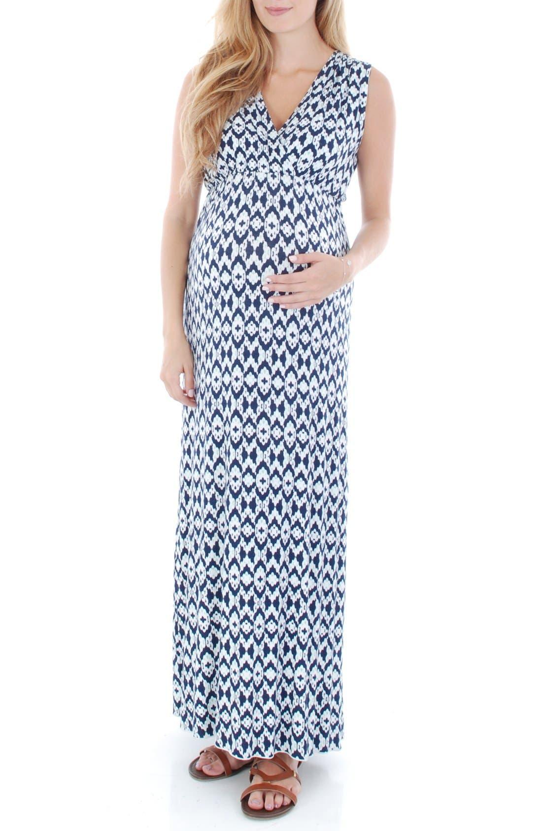 'Jill' Maternity Maxi Dress,                             Main thumbnail 1, color,                             400