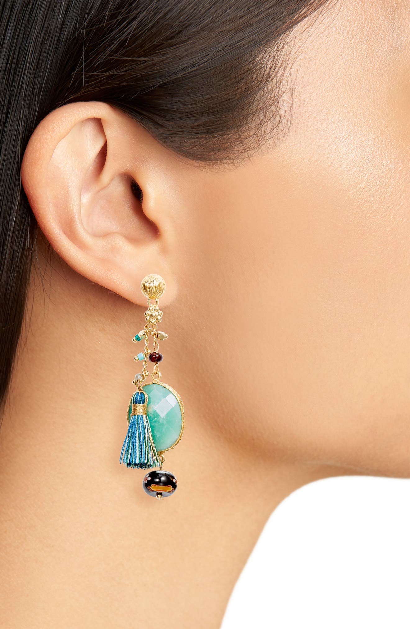 Serti Pondicherie Drop Earrings,                             Alternate thumbnail 2, color,                             400