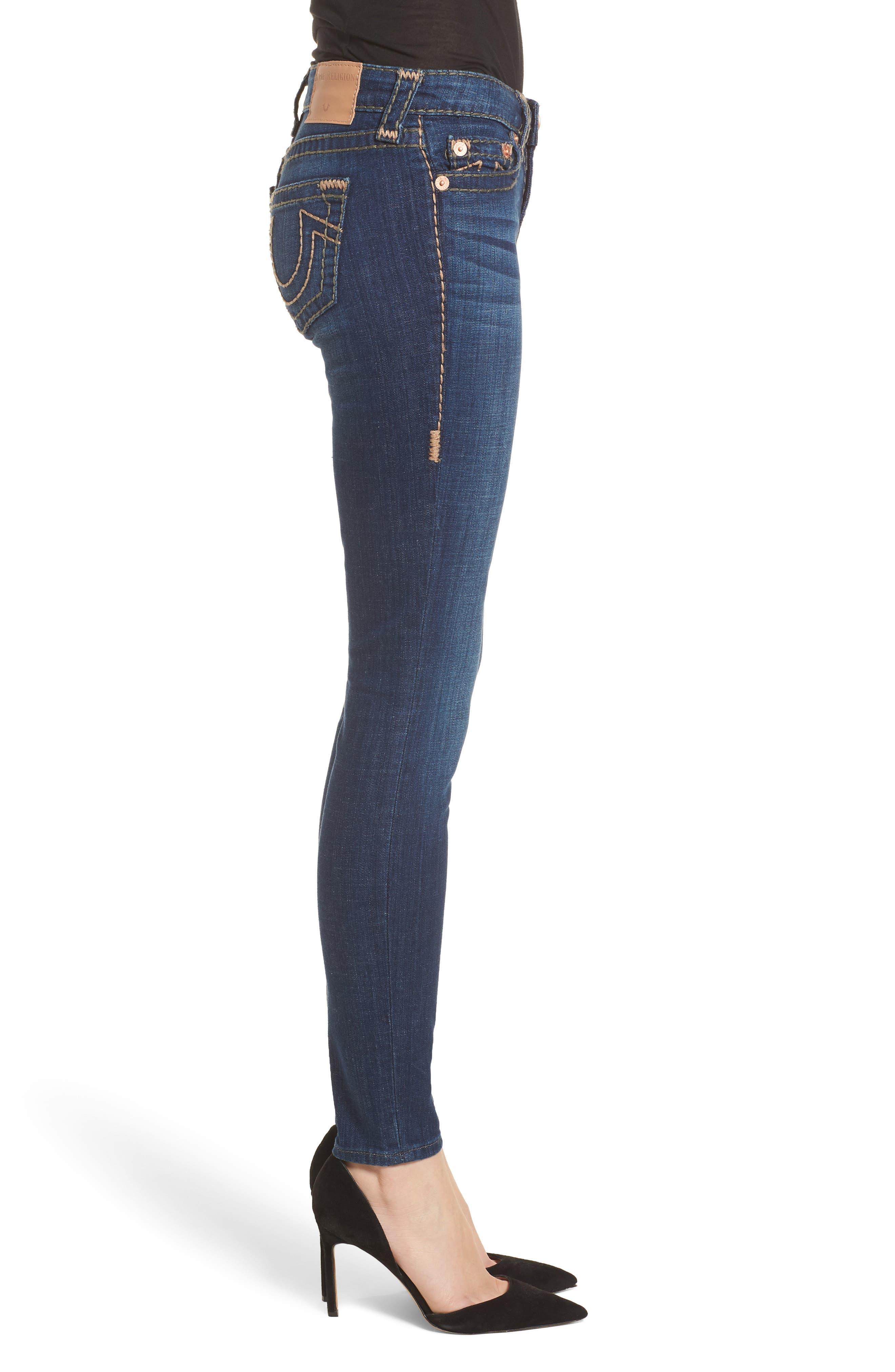 Halle Skinny Jeans,                             Alternate thumbnail 3, color,                             402