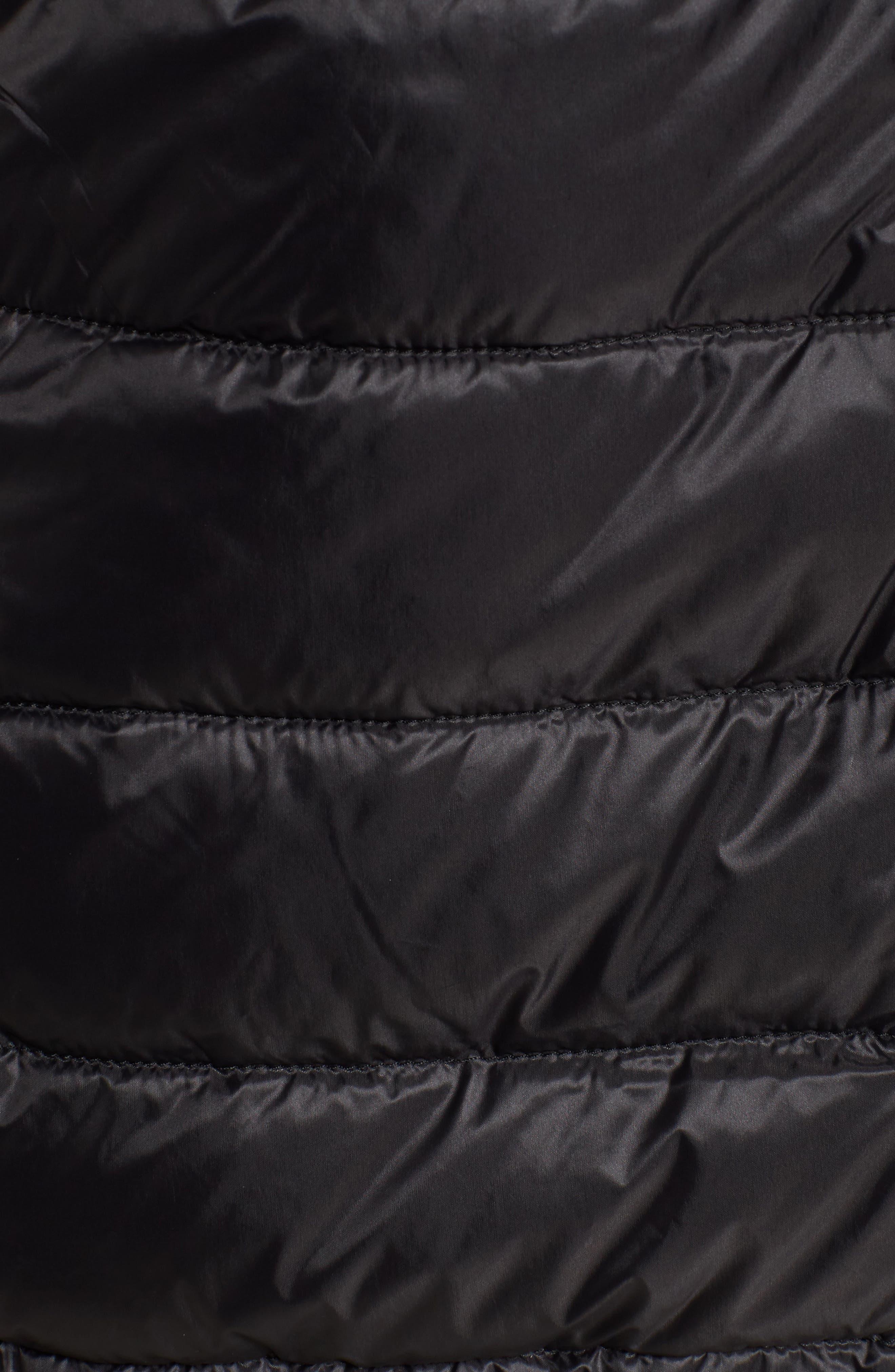 Hooded Packable Down & PrimaLoft<sup>®</sup> Coat,                             Alternate thumbnail 5, color,                             001