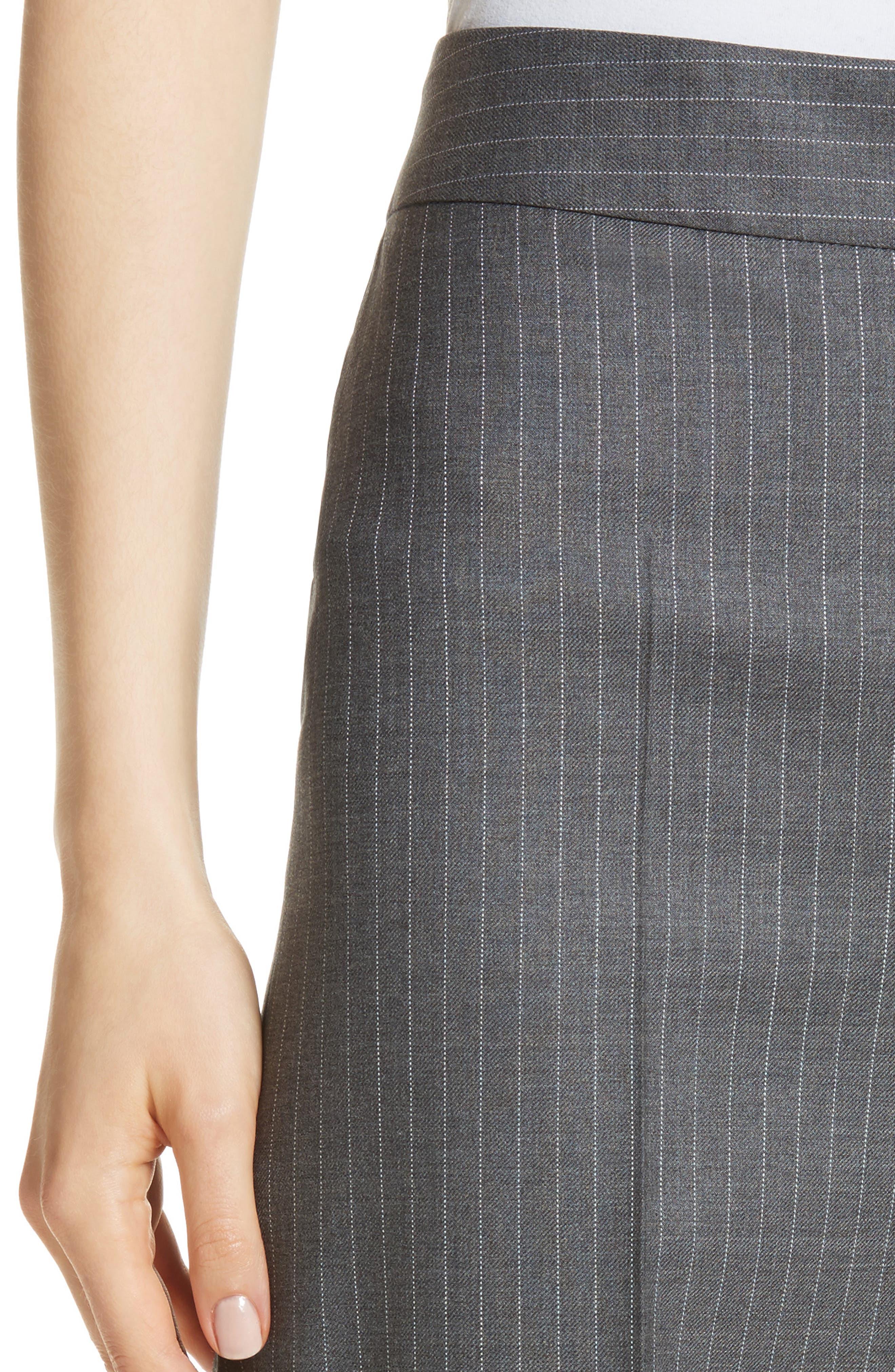 Garibo Stretch Wool Pinstripe Pants,                             Alternate thumbnail 4, color,                             034