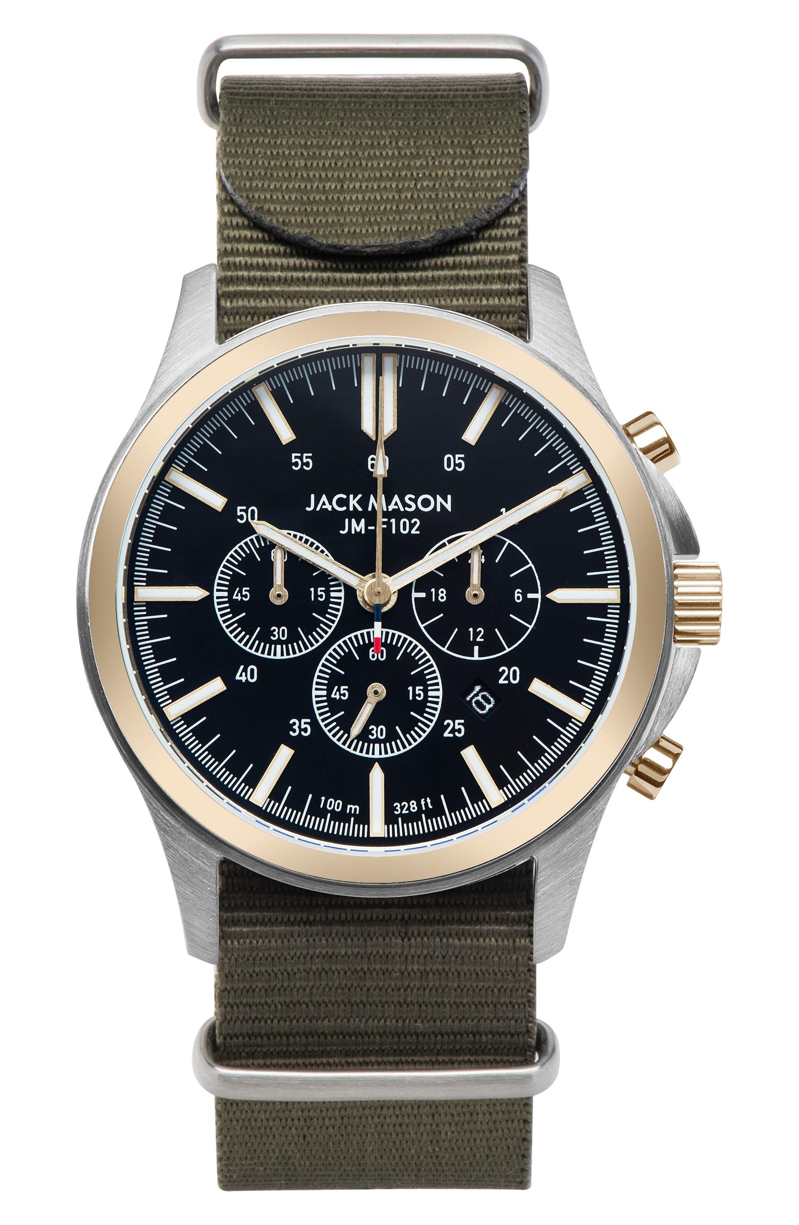Field Chronograph NATO Strap Watch, 42mm,                         Main,                         color, 001