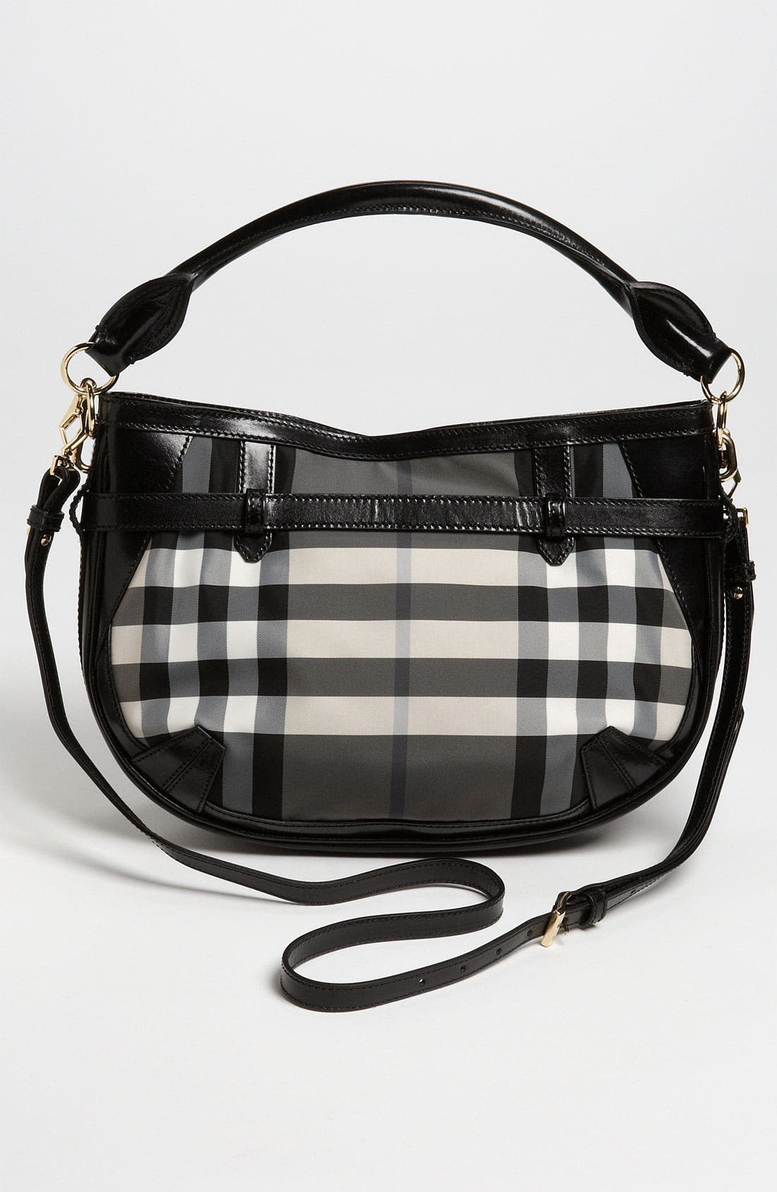 Prorsum 'Charcoal Check' Crossbody Bag,                             Alternate thumbnail 4, color,                             020