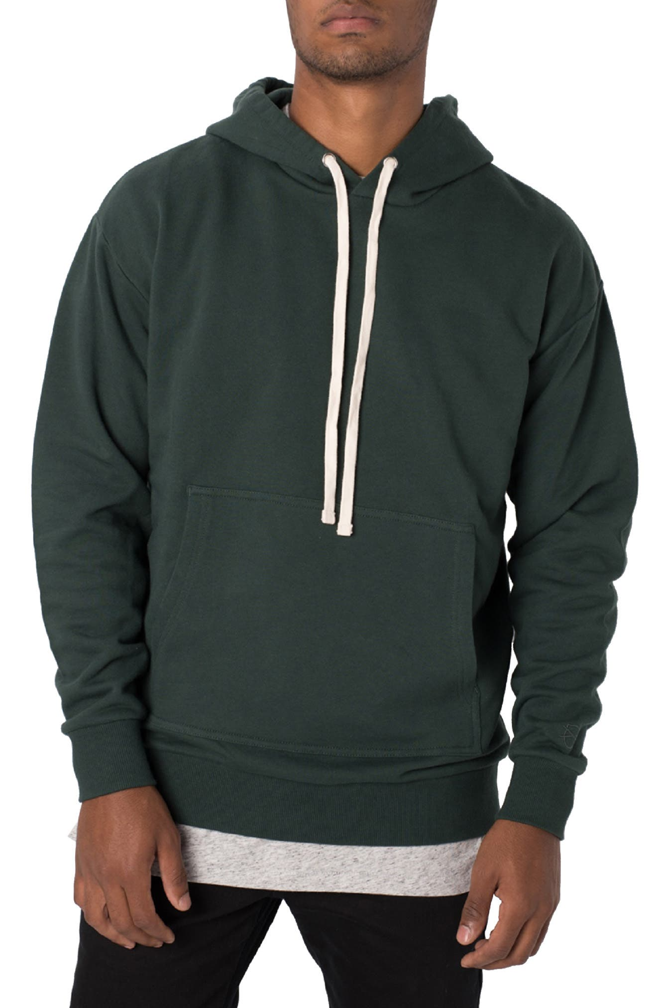 ZANEROBE,                             Flintlock Longline Hoodie,                             Main thumbnail 1, color,                             FOREST