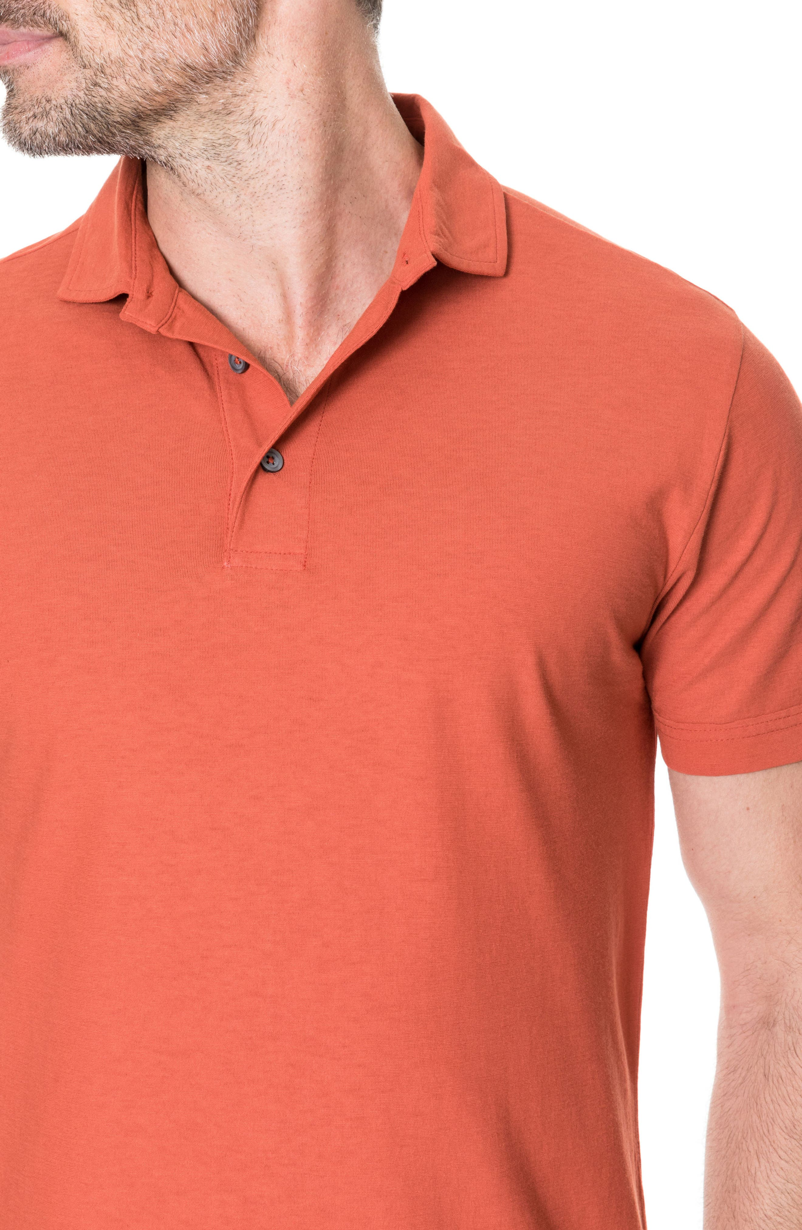 Wilsons Bay Sports Fit Polo,                             Alternate thumbnail 3, color,                             RED OCHRE