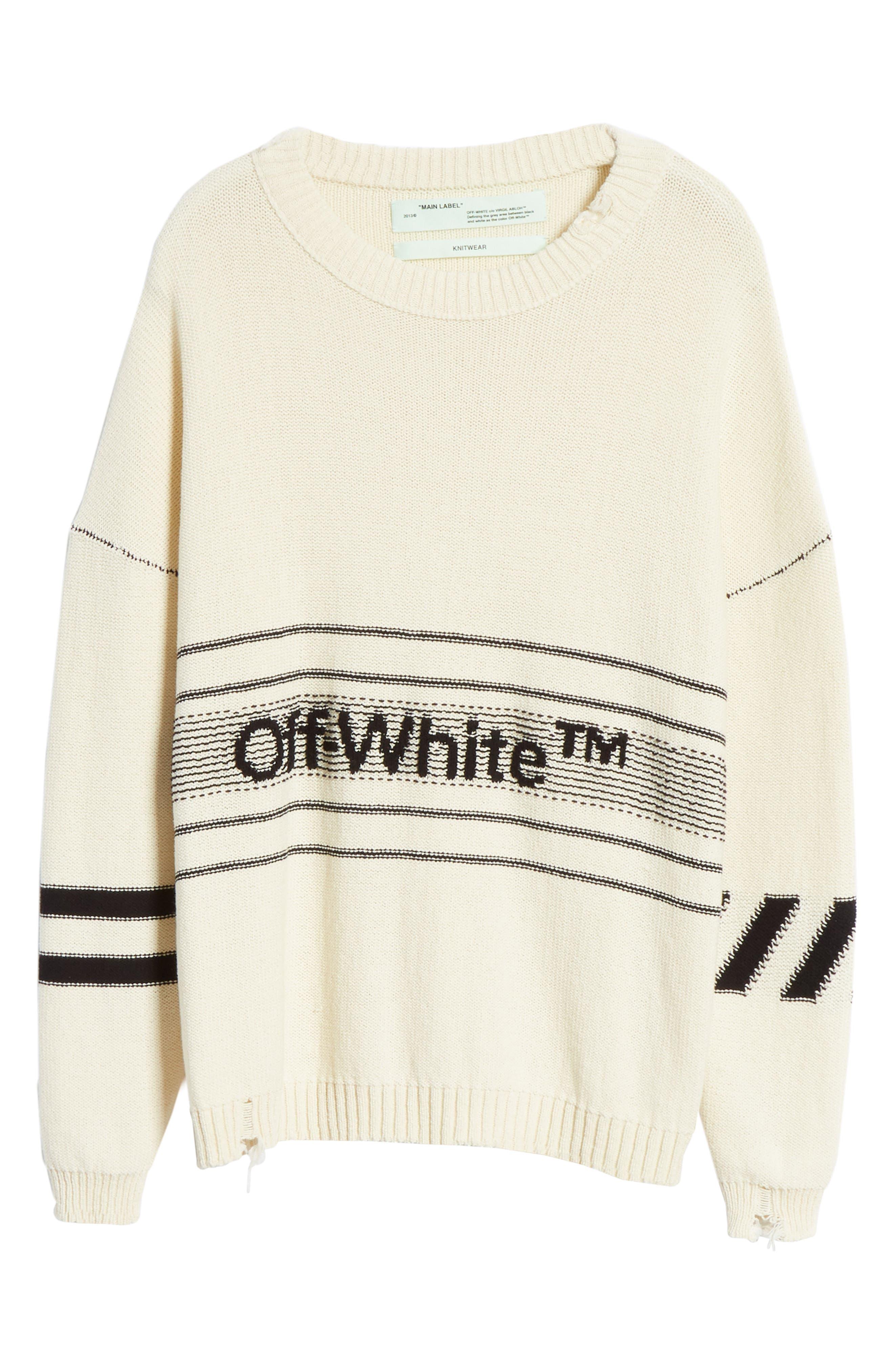 Logo Sweater,                             Alternate thumbnail 6, color,                             OFF WHITE