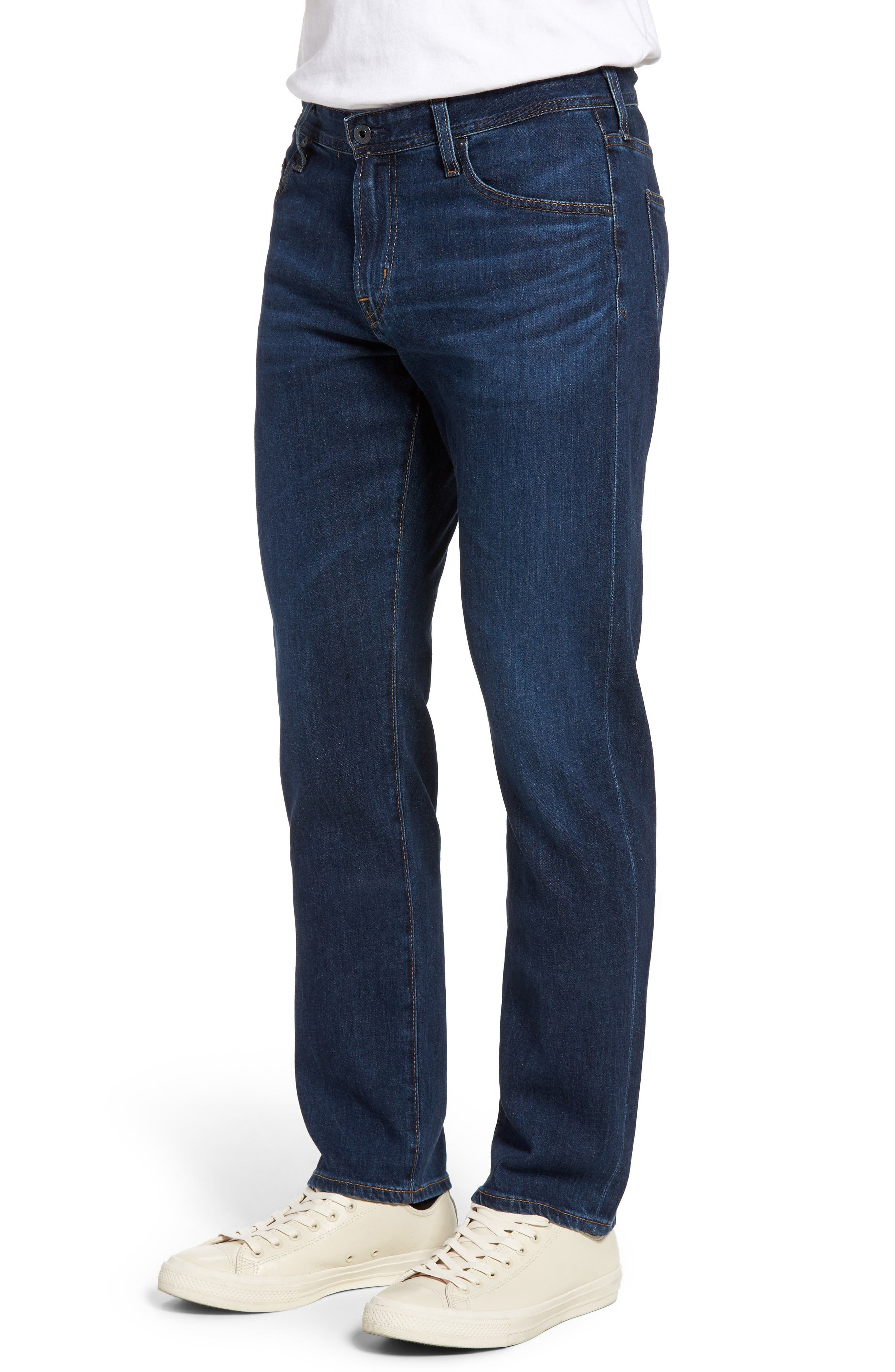 Graduate Slim Straight Leg Jeans,                             Alternate thumbnail 3, color,                             435