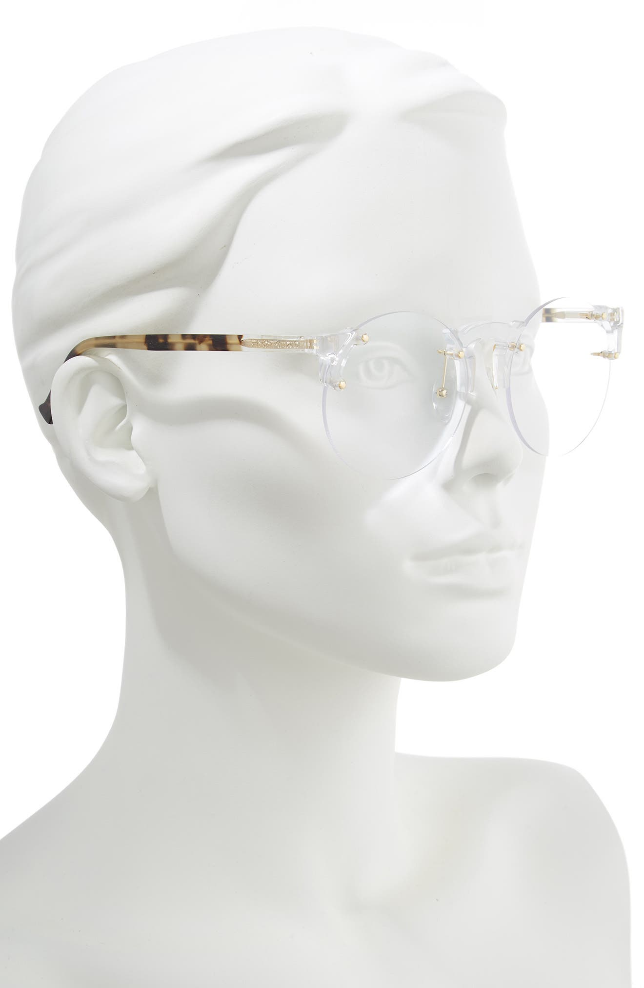 Solo 57mm Rimless Optical Glasses,                             Alternate thumbnail 2, color,                             CLEAR/ GOLD