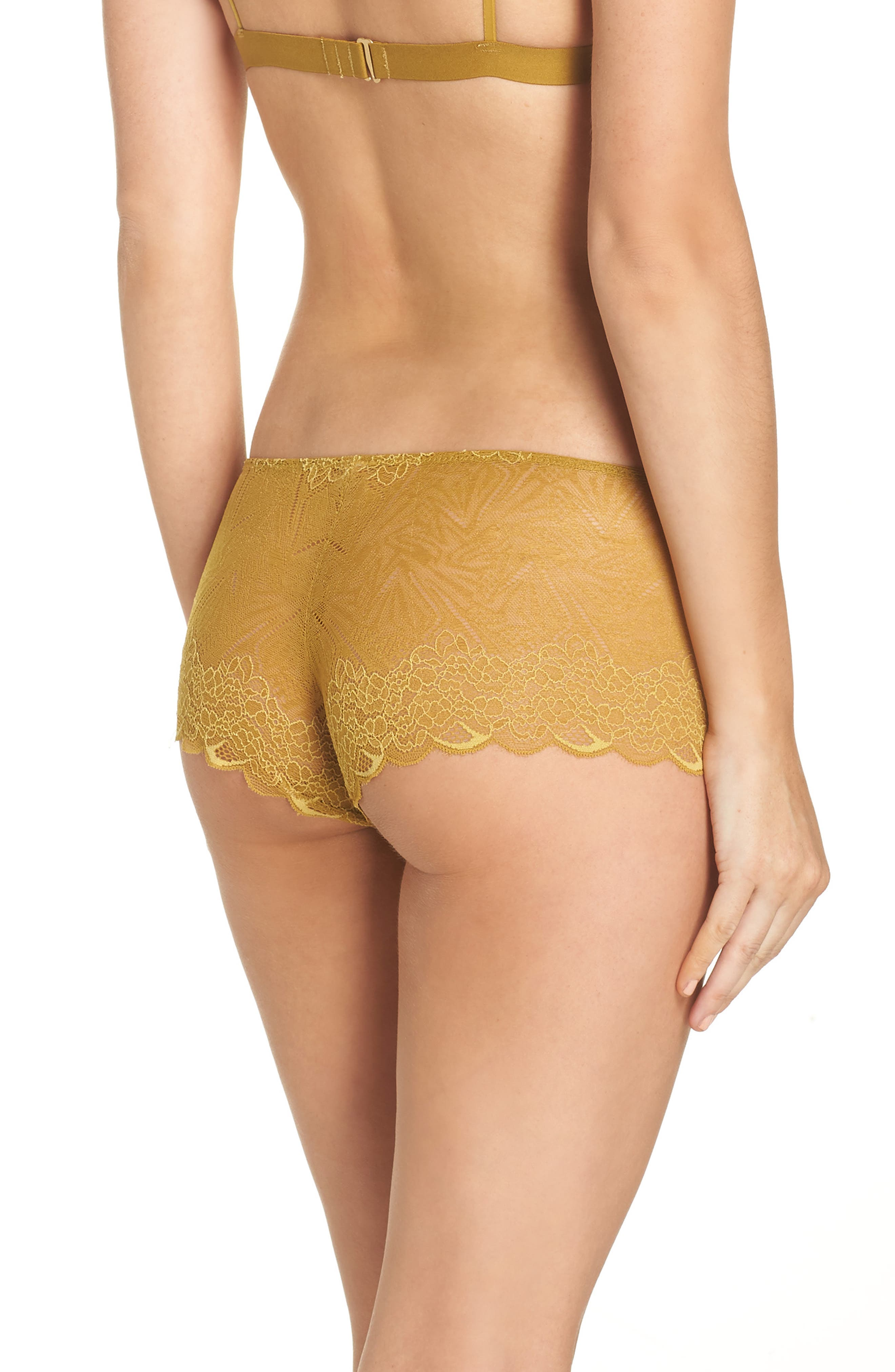 Lace Boyshorts,                             Alternate thumbnail 2, color,                             BRONZED AMBAR