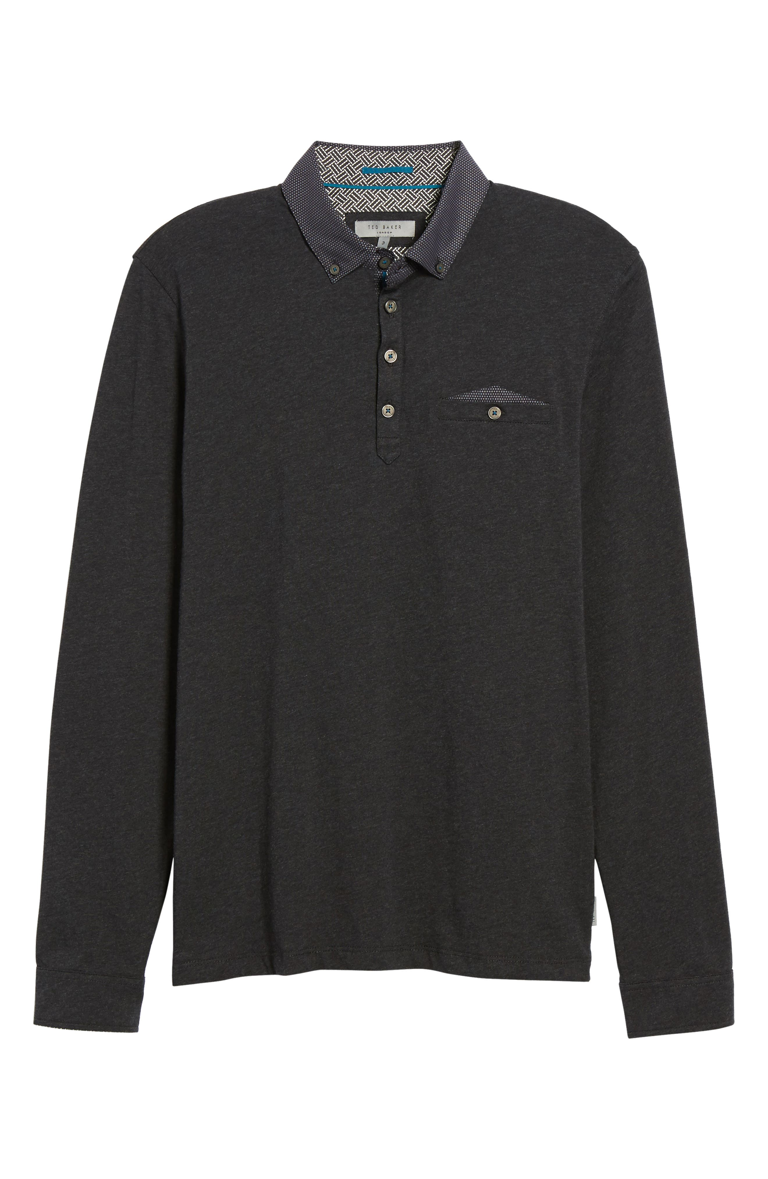 Spresso Long Sleeve Polo,                             Alternate thumbnail 6, color,                             010